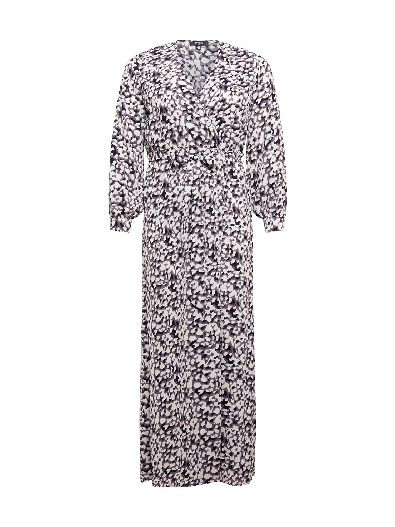Missguided Plus Suknelė balta / pilka / juoda