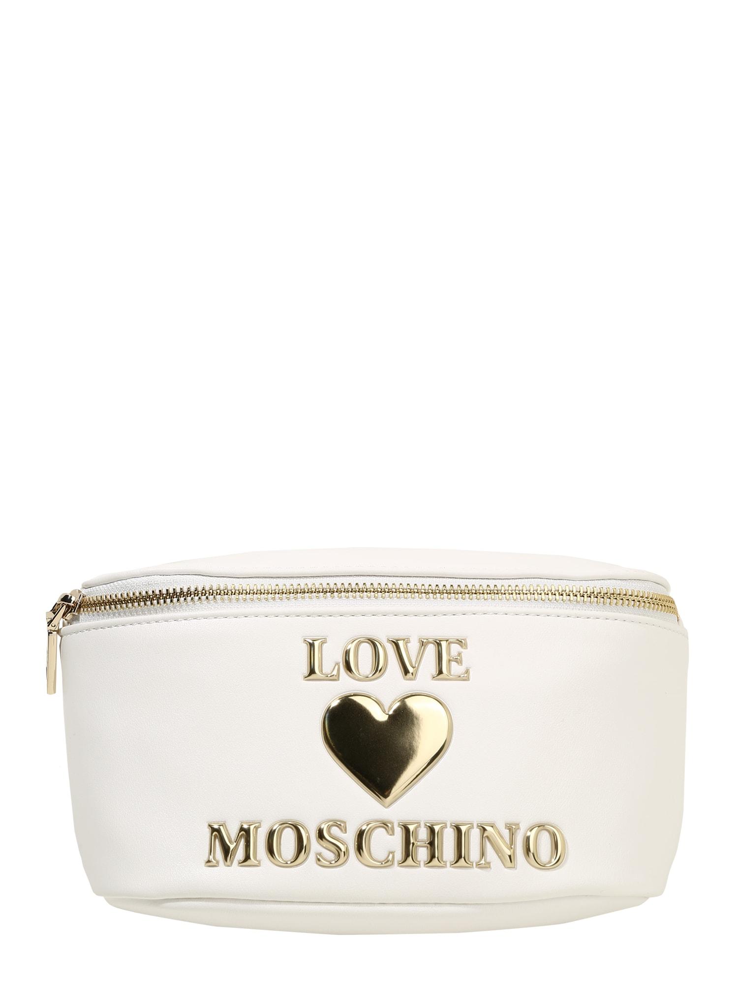 Love Moschino Rankinė ant juosmens natūrali balta / auksas