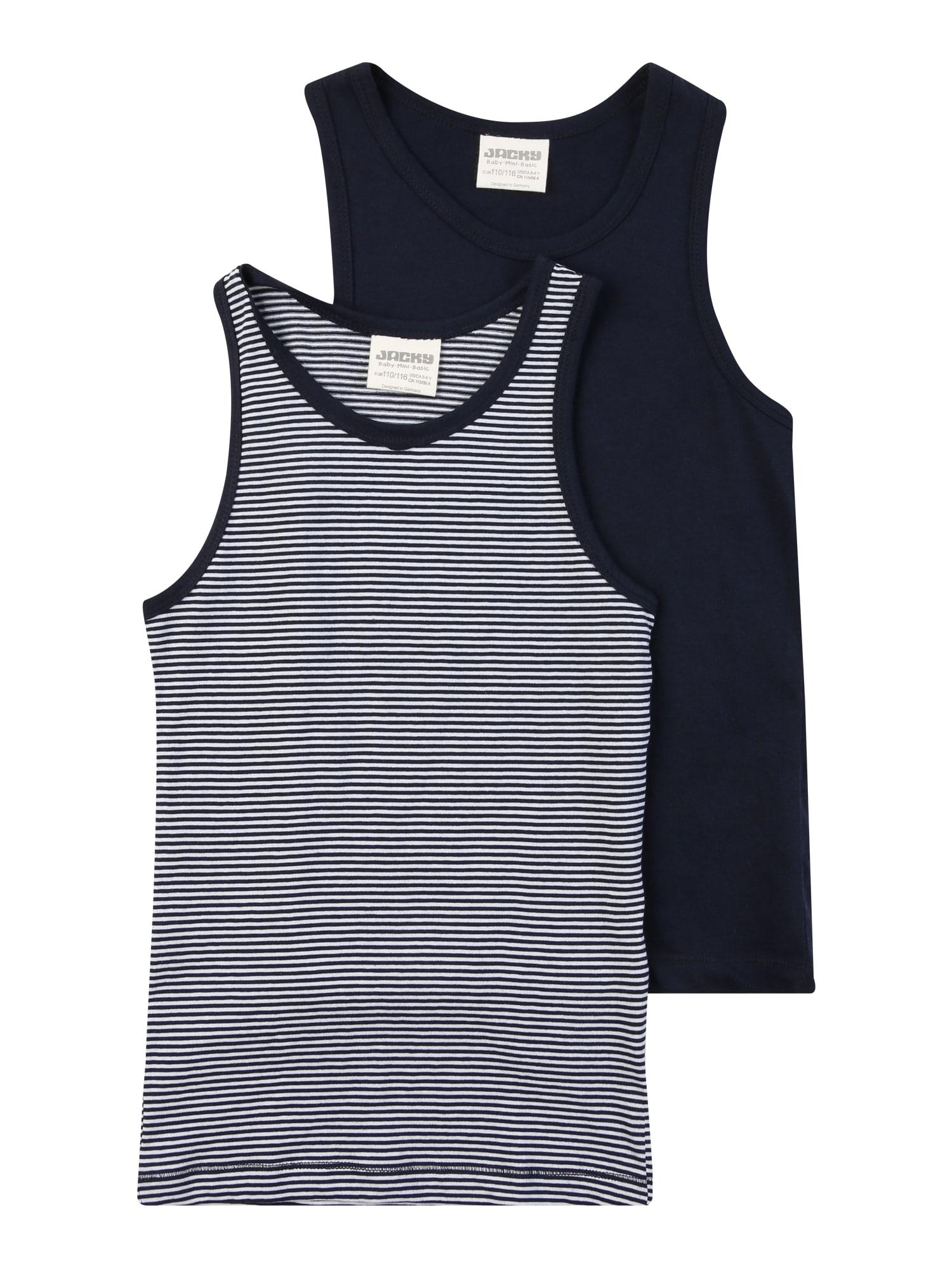 JACKY Apatiniai marškinėliai kobalto mėlyna / balta
