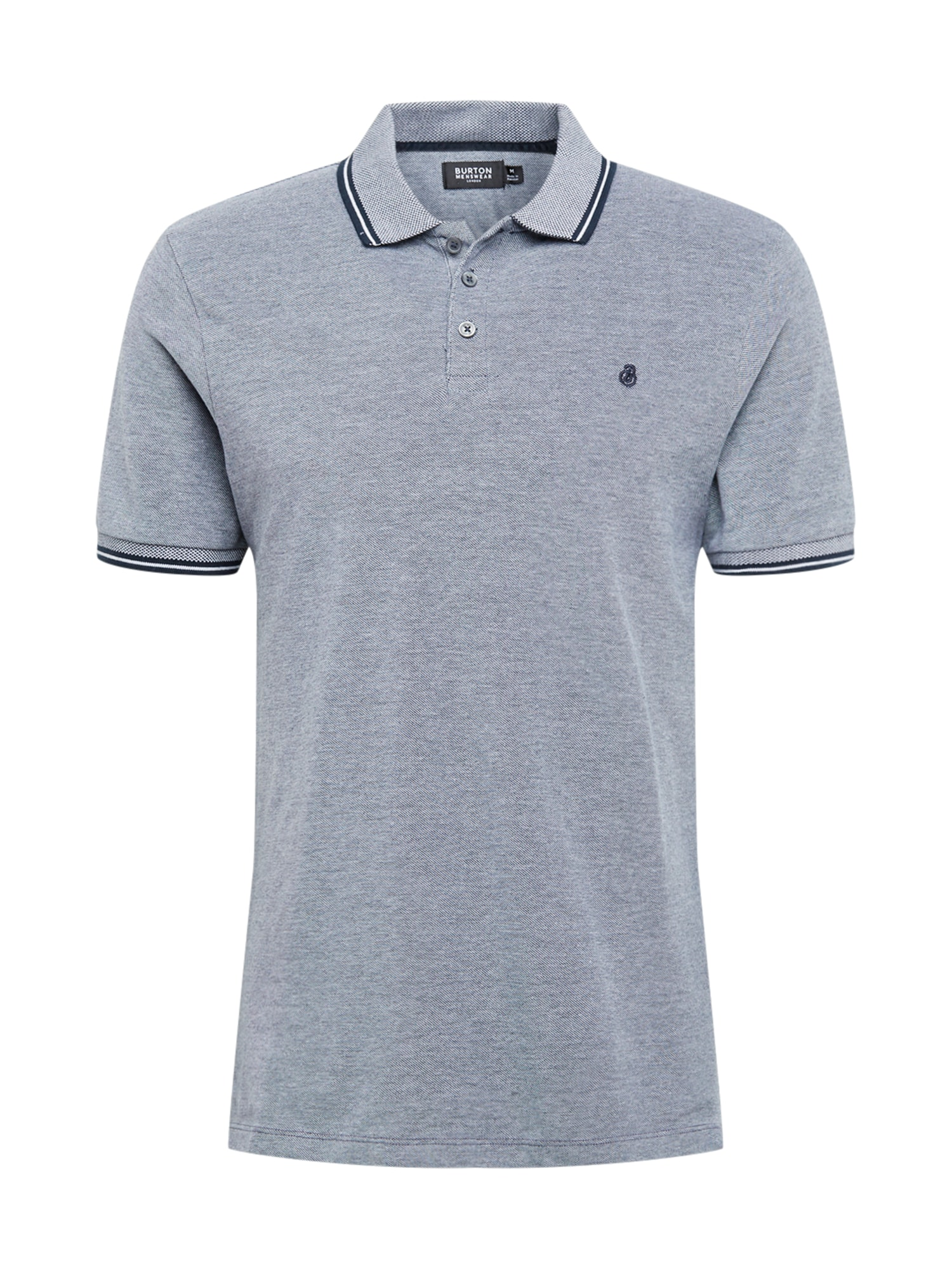 BURTON MENSWEAR LONDON Marškinėliai tamsiai mėlyna / pilka
