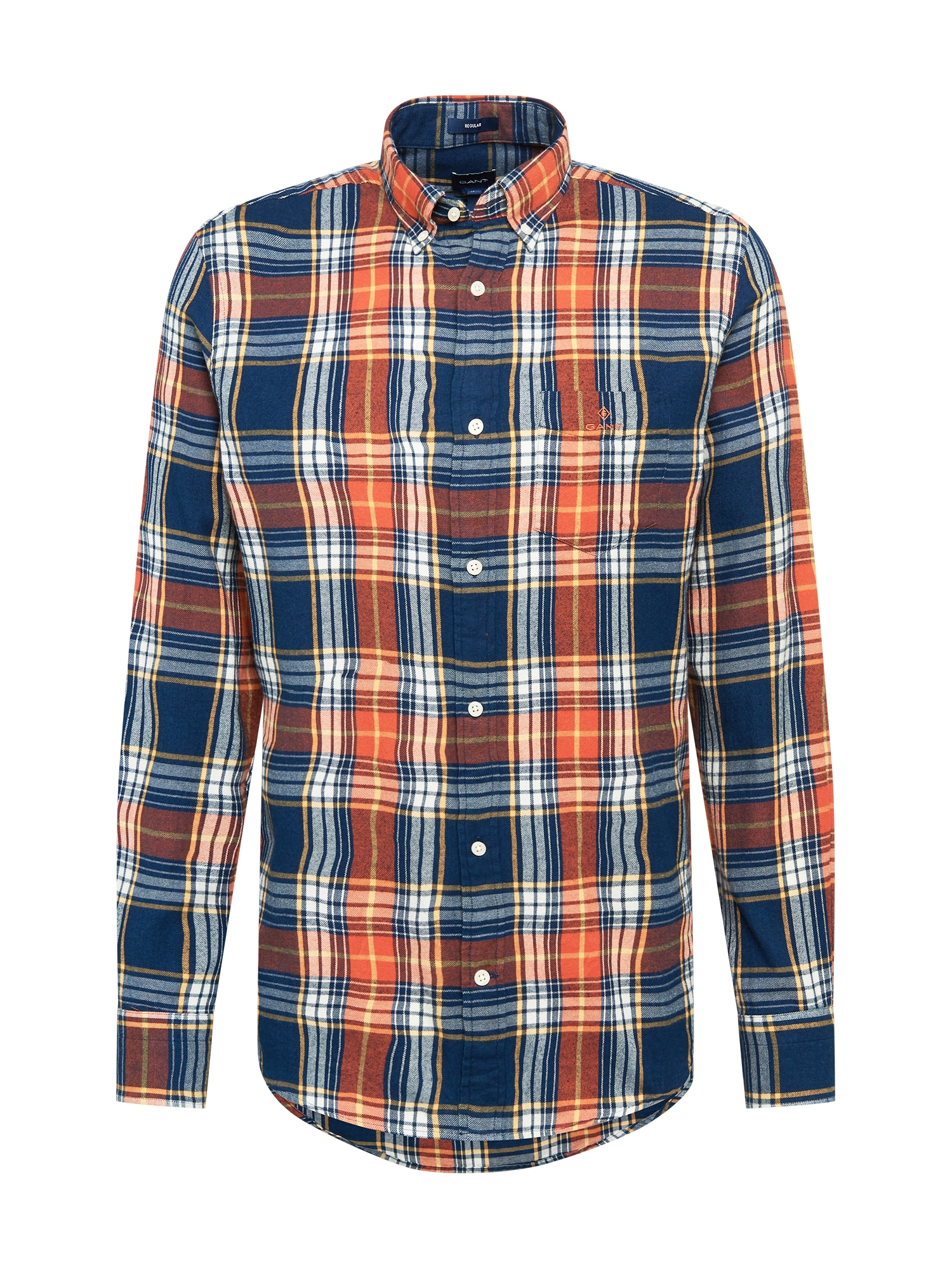 GANT Marškiniai tamsiai oranžinė / šviesiai oranžinė / tamsiai mėlyna / balta / geltona