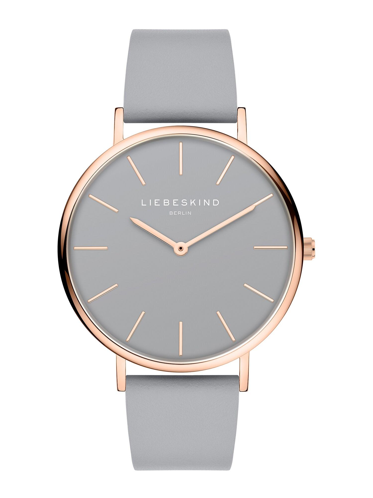 Liebeskind Berlin Analoginis (įprasto dizaino) laikrodis pilka / rožinio aukso spalva