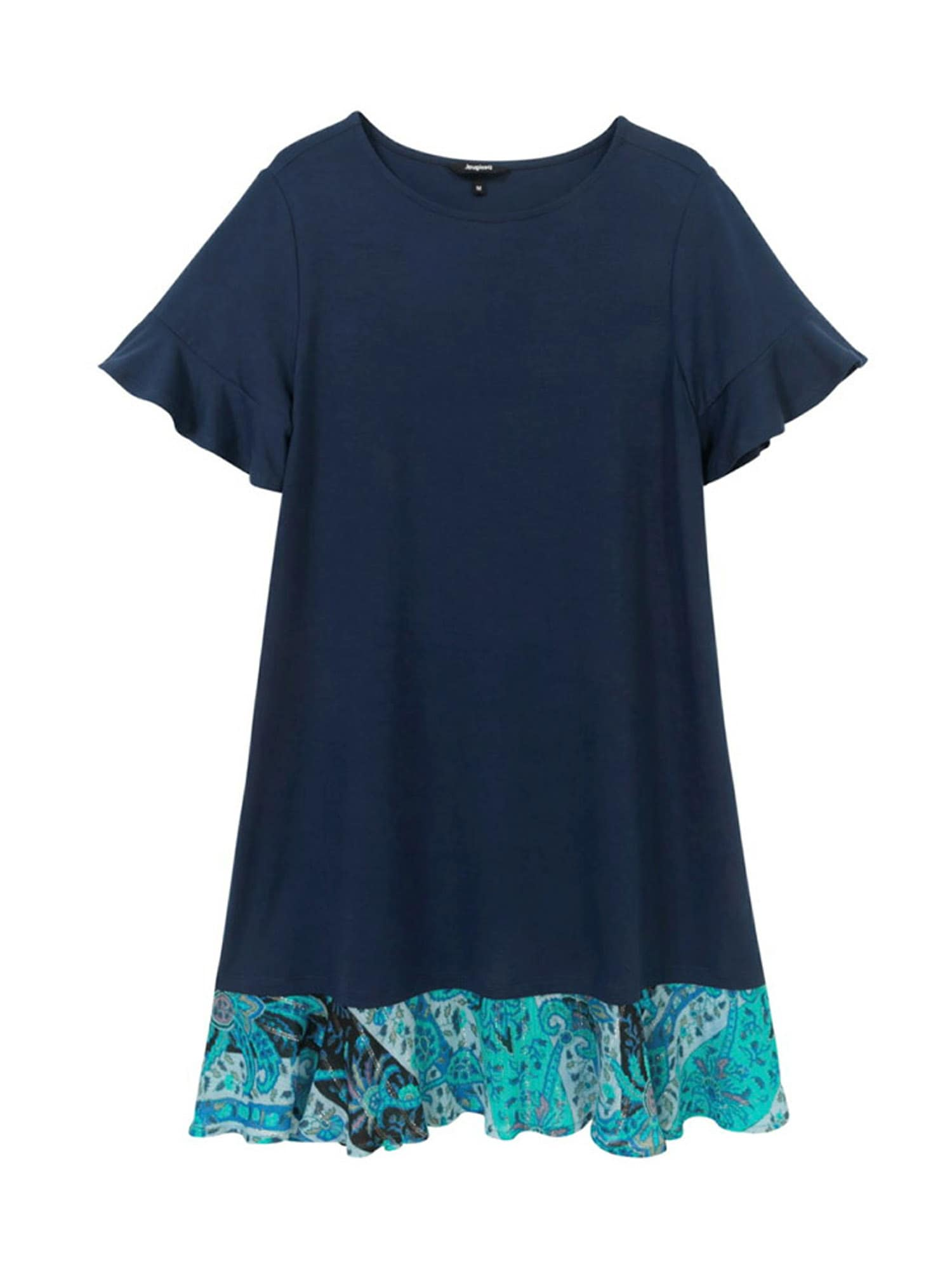 Desigual Šaty  noční modrá / tyrkysová / bílá