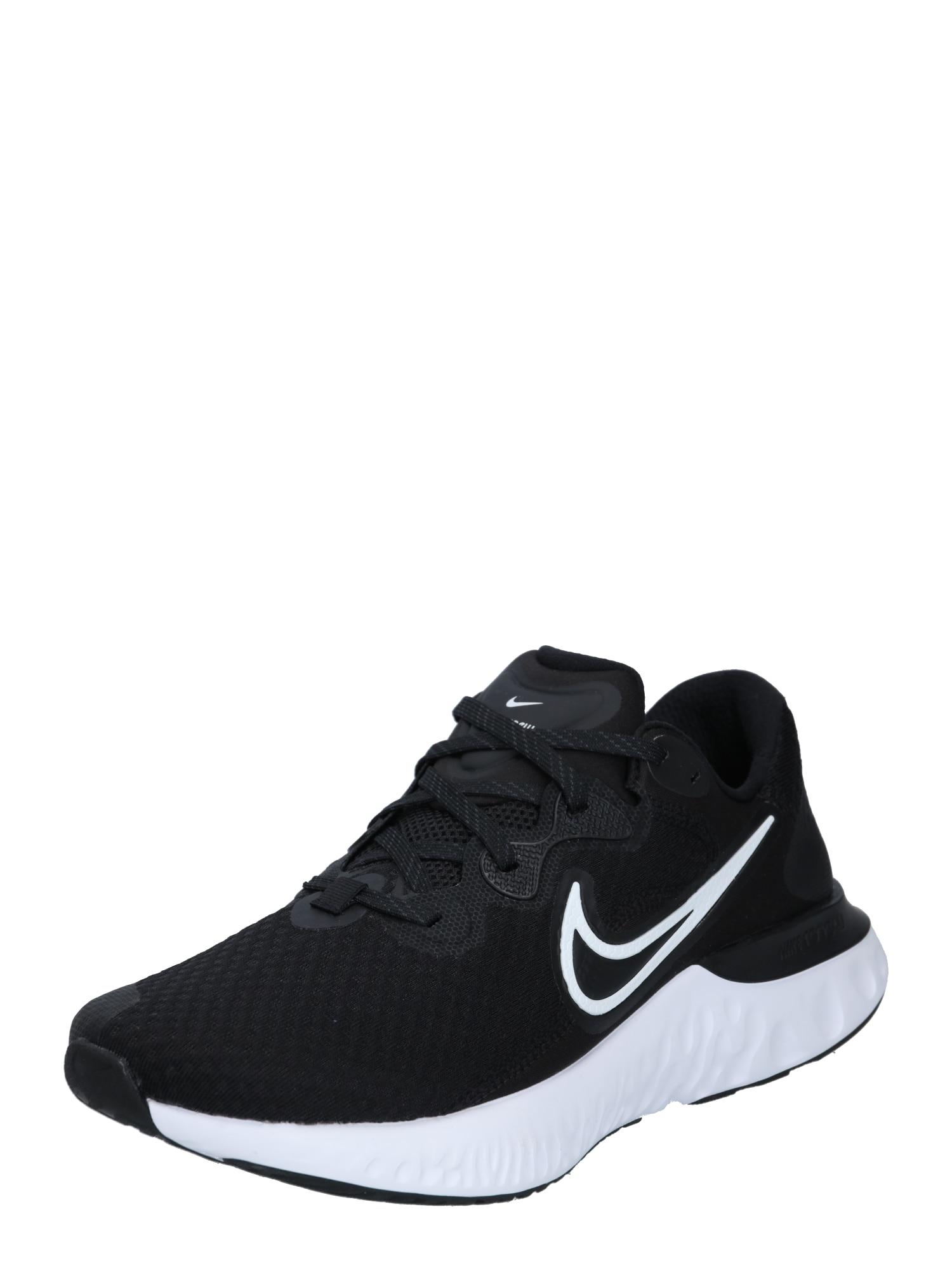 NIKE Bėgimo batai balta / juoda