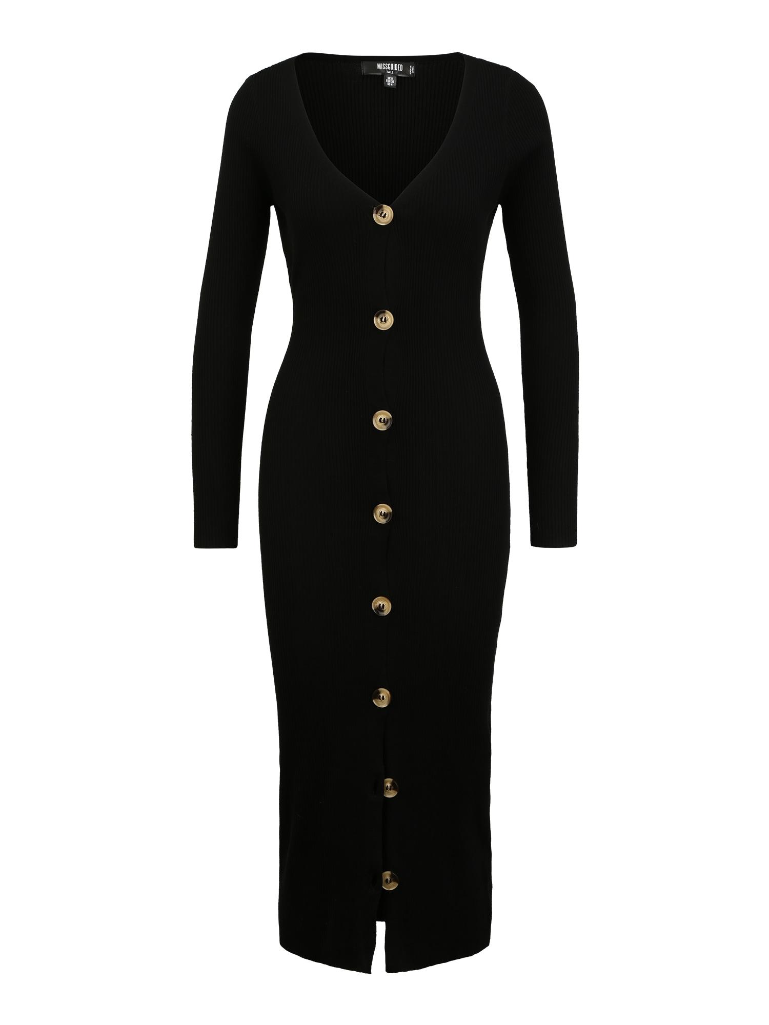 Missguided (Tall) Megzta suknelė juoda