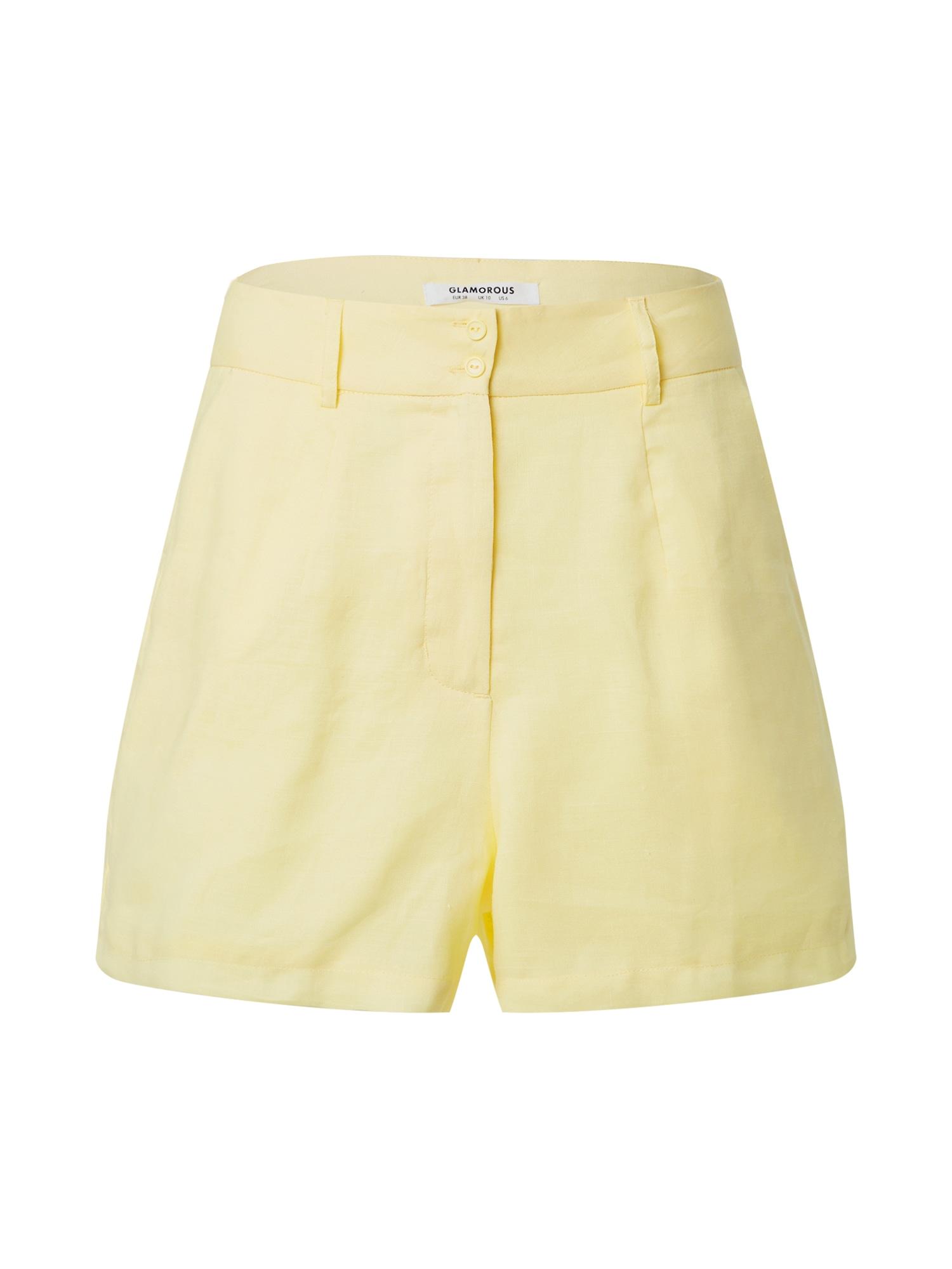 GLAMOROUS Kelnės šviesiai geltona