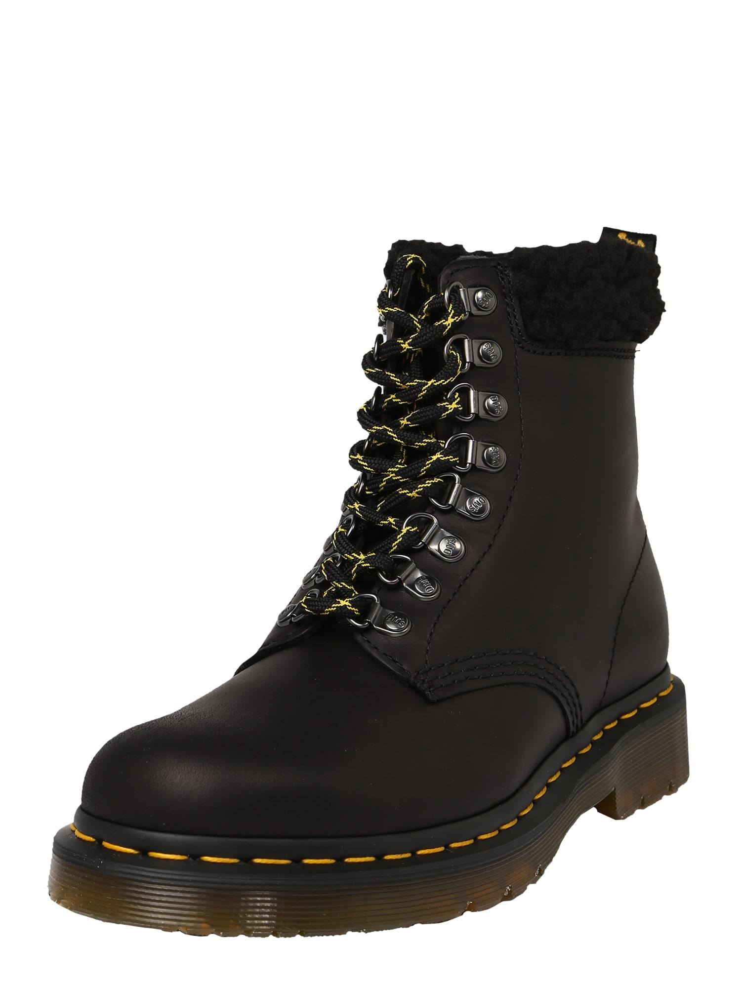 Dr. Martens Sniego batai juoda / aukso geltonumo spalva