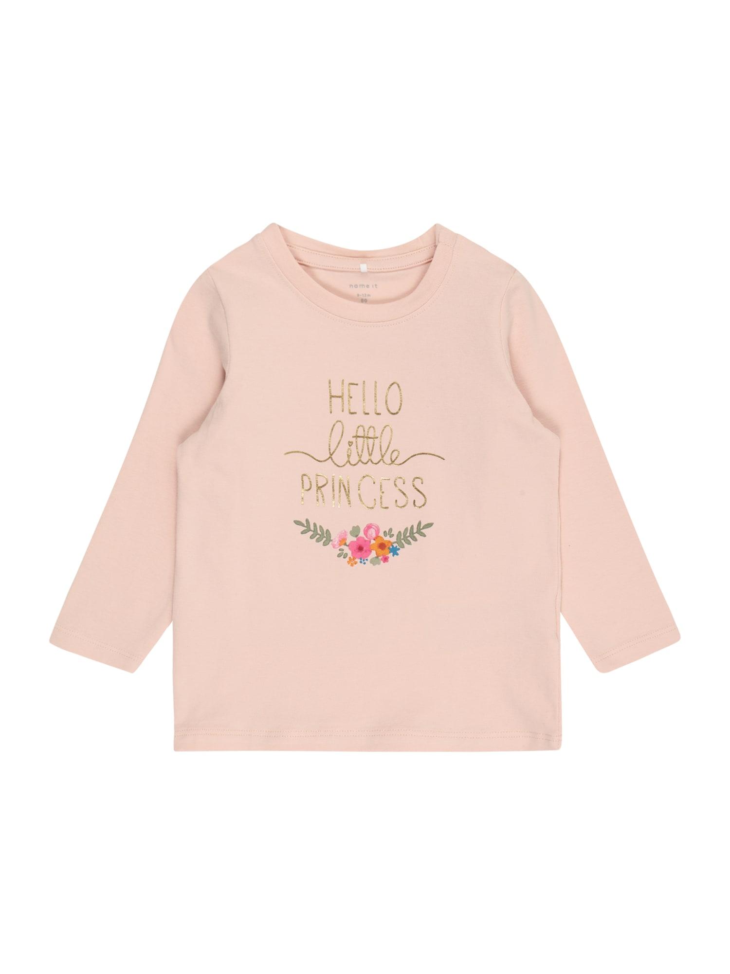 NAME IT Marškinėliai 'BIANCA' pastelinė rožinė / citrinos spalva / rožinė / šviesiai žalia / mėlyna