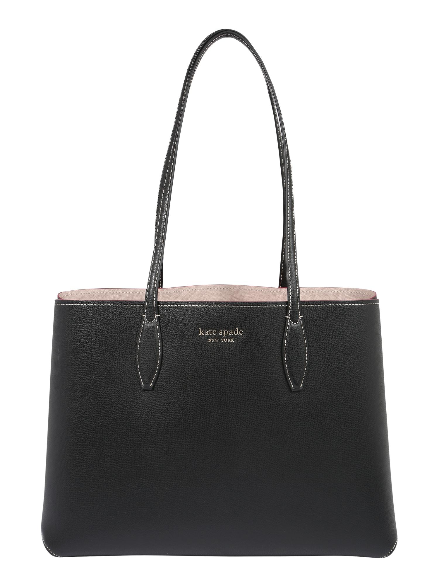 Kate Spade Pirkinių krepšys juoda / raudona