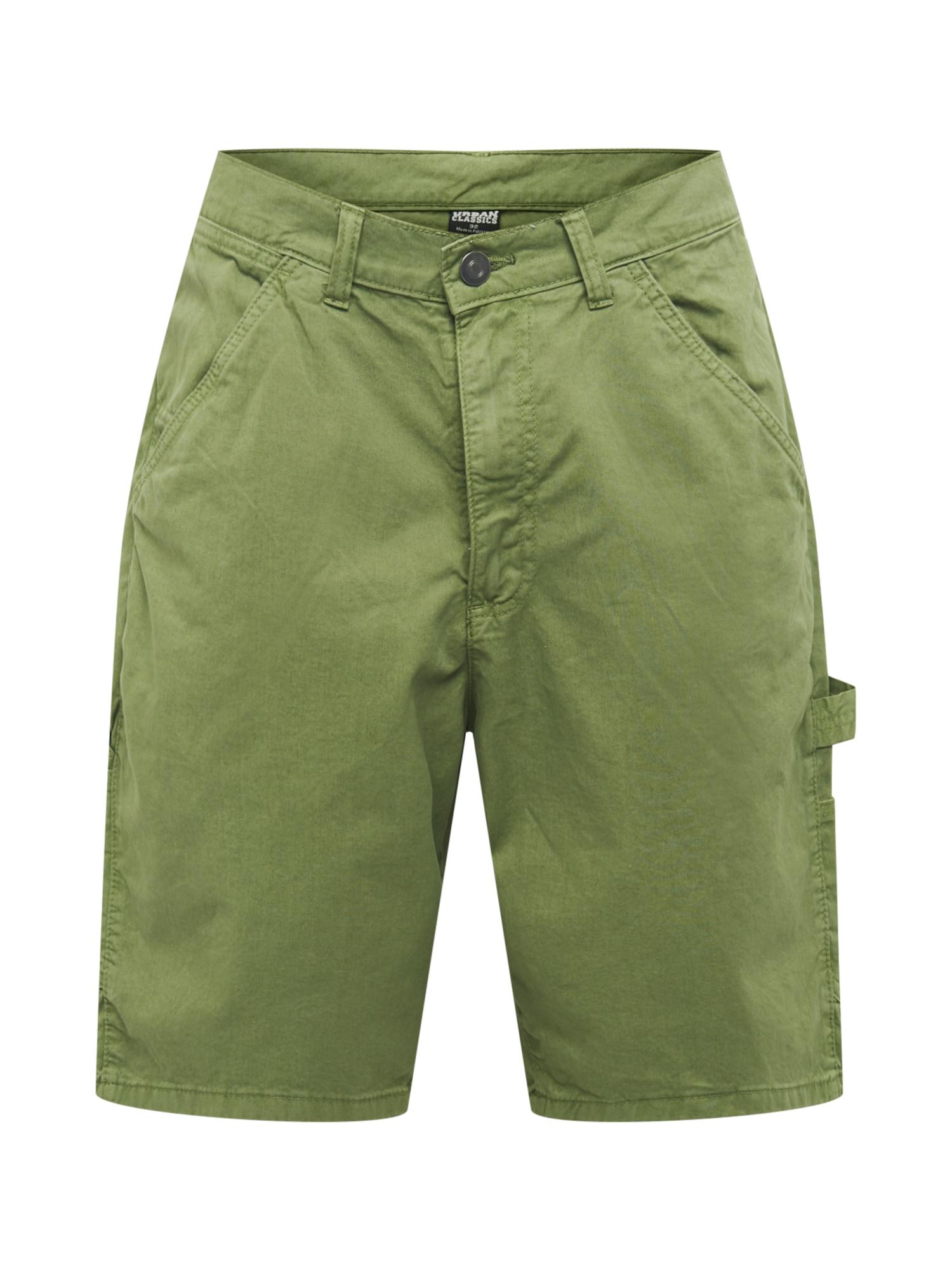 Urban Classics Darbinio stiliaus džinsai šviesiai žalia