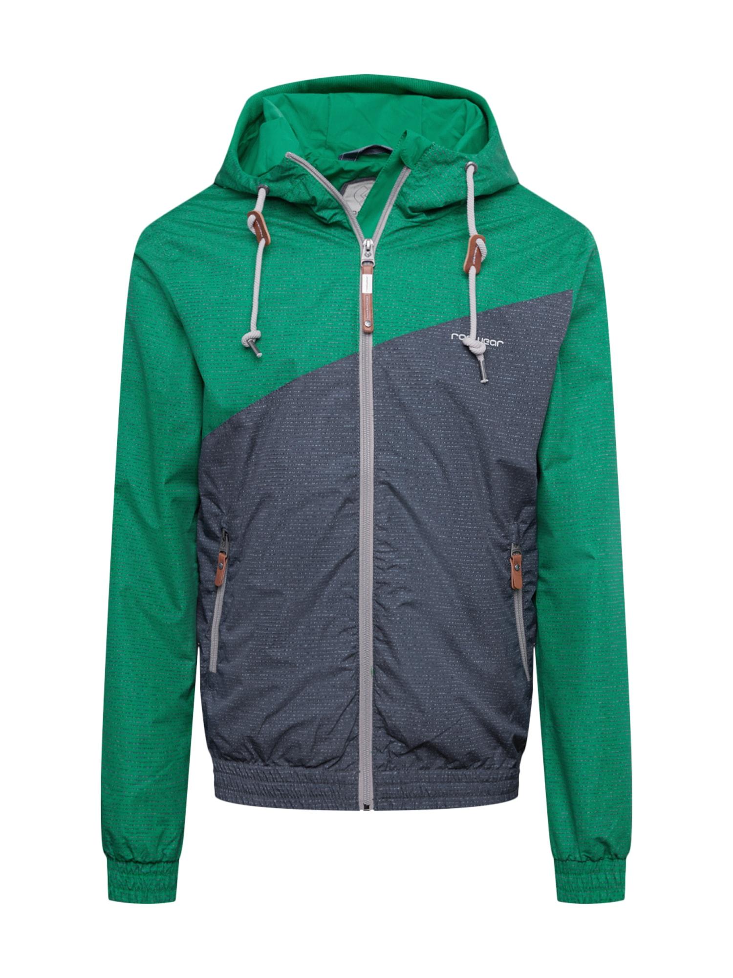 Ragwear Přechodná bunda 'NUGGET'  zelená / šedá