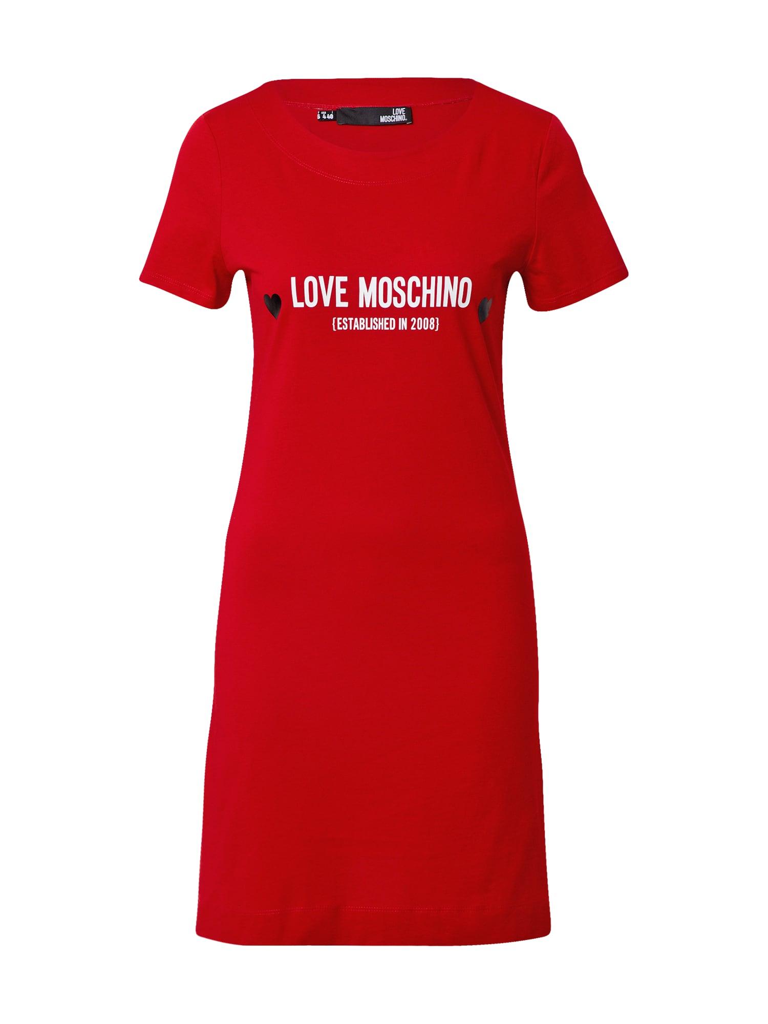 Love Moschino Suknelė raudona / balta