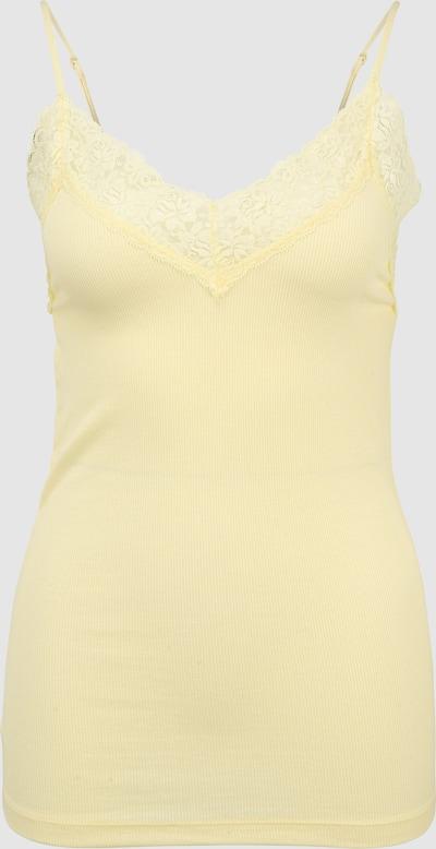 Selected Femme Tall Mio Geripptes Cami-Unterhemd mit Spitze