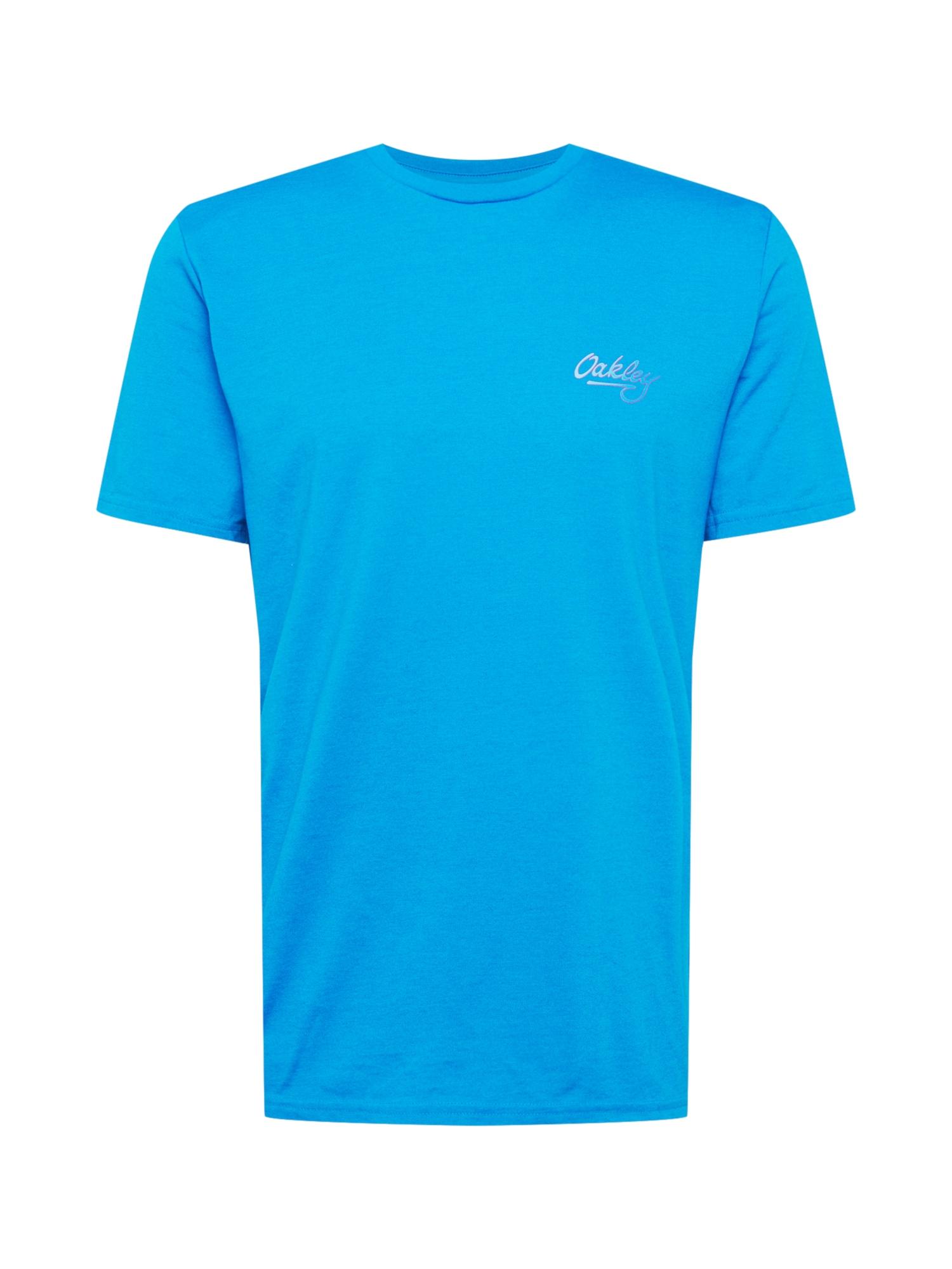 OAKLEY Marškinėliai vandens spalva / balta / purpurinė