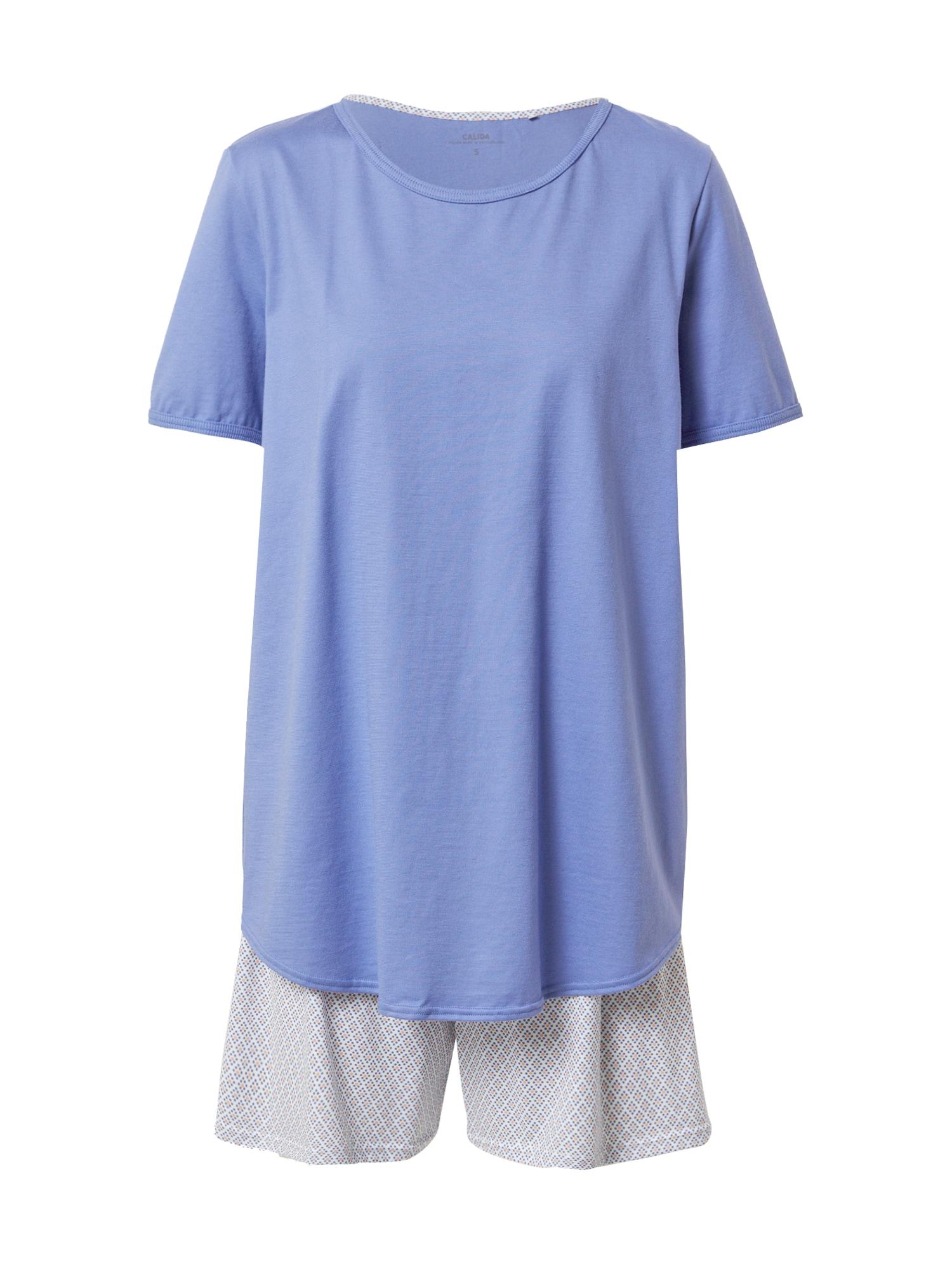 CALIDA Pyžamo  kouřově modrá / mandarinkoná / bílá