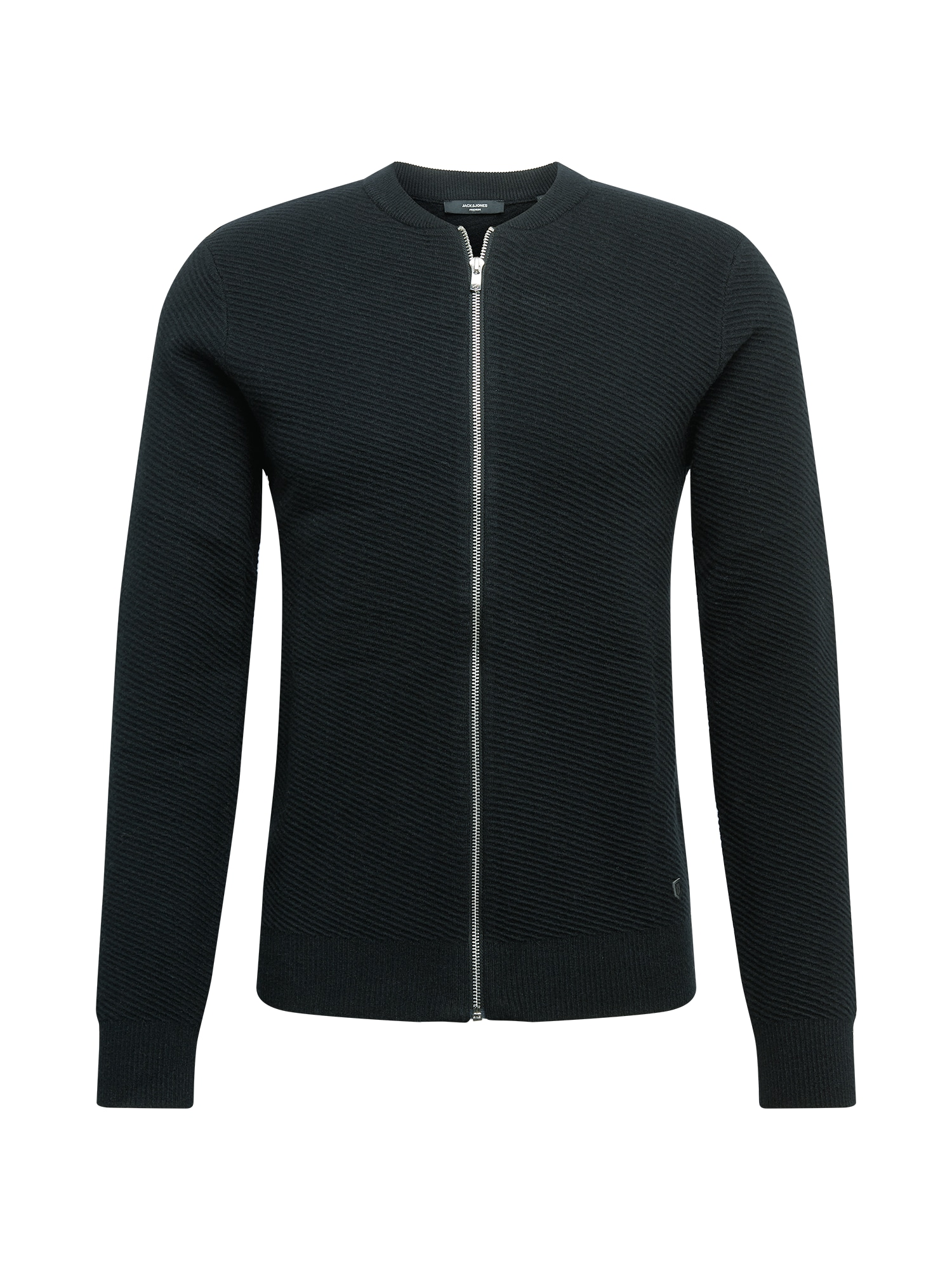 JACK & JONES Kardiganas 'WILL' juoda / pilka