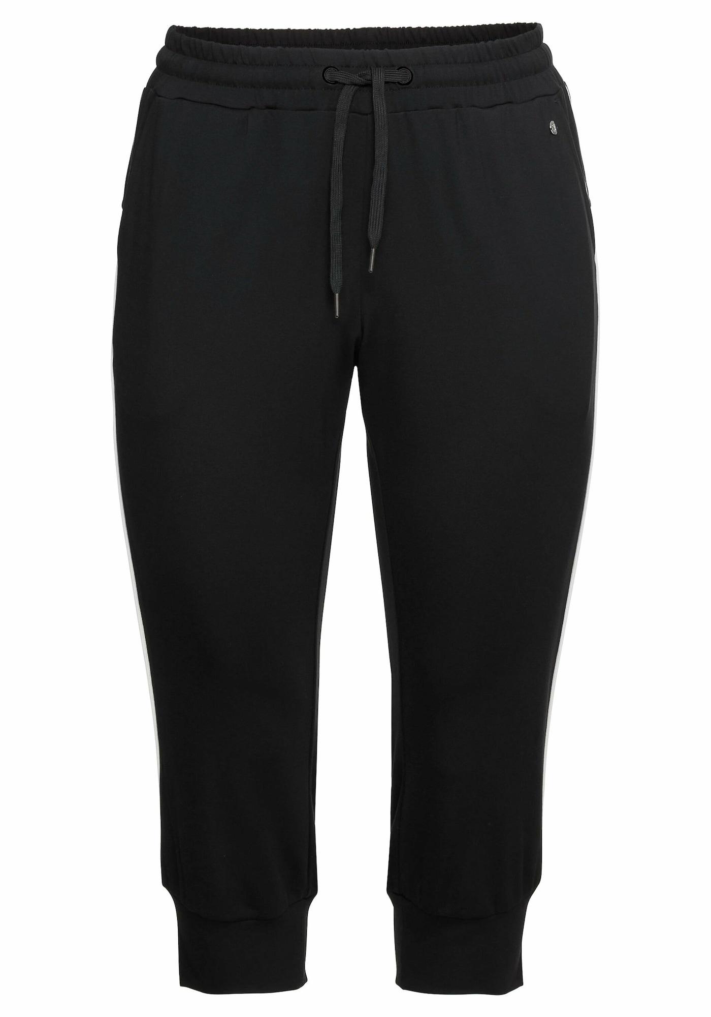 SHEEGO Sportinės kelnės juoda / balta