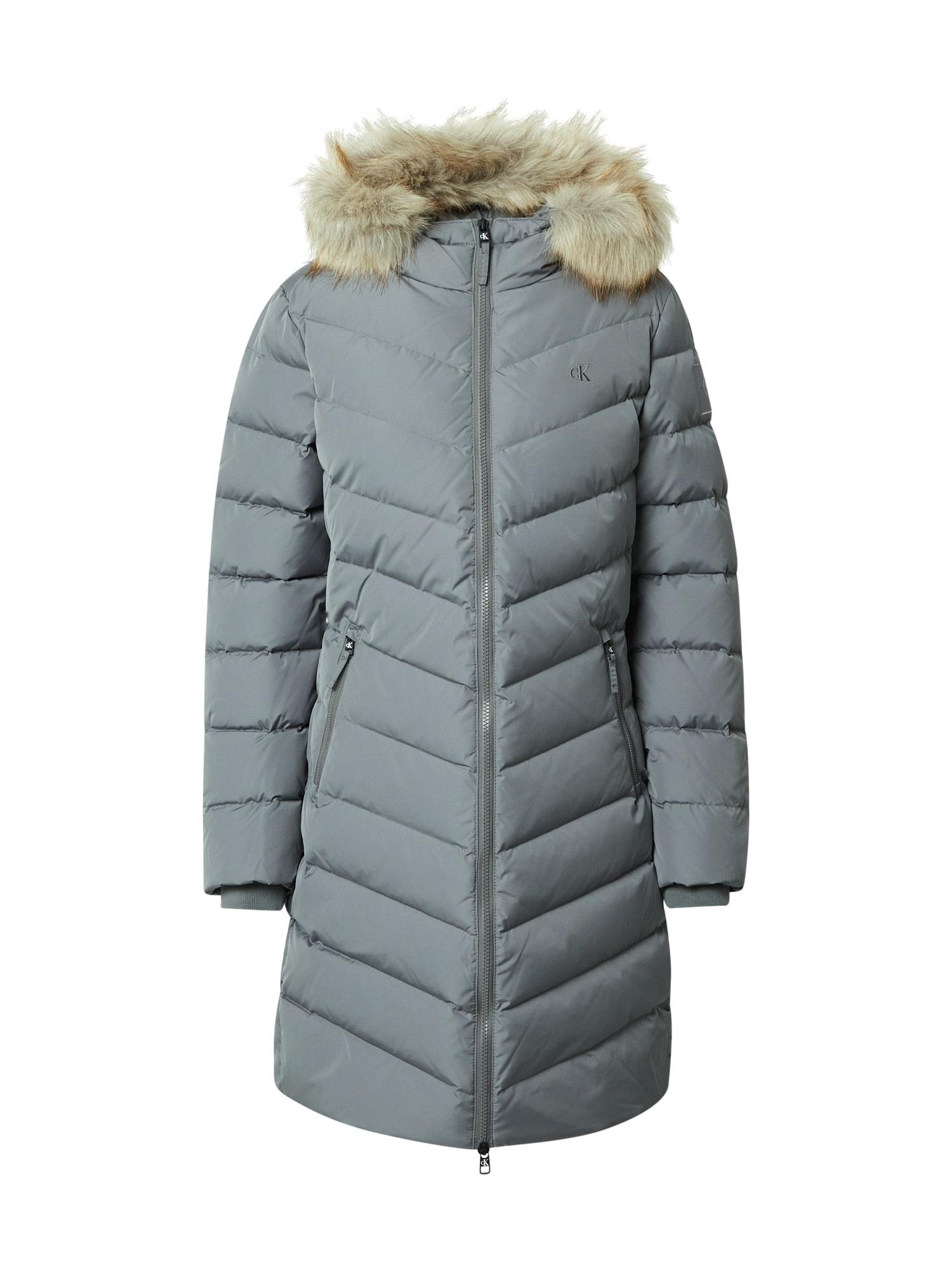 Calvin Klein Jeans Žieminis paltas pilka