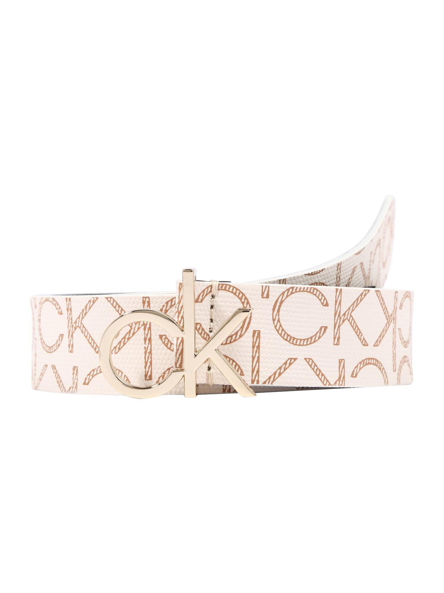 Calvin Klein Diržas kremo / smėlio