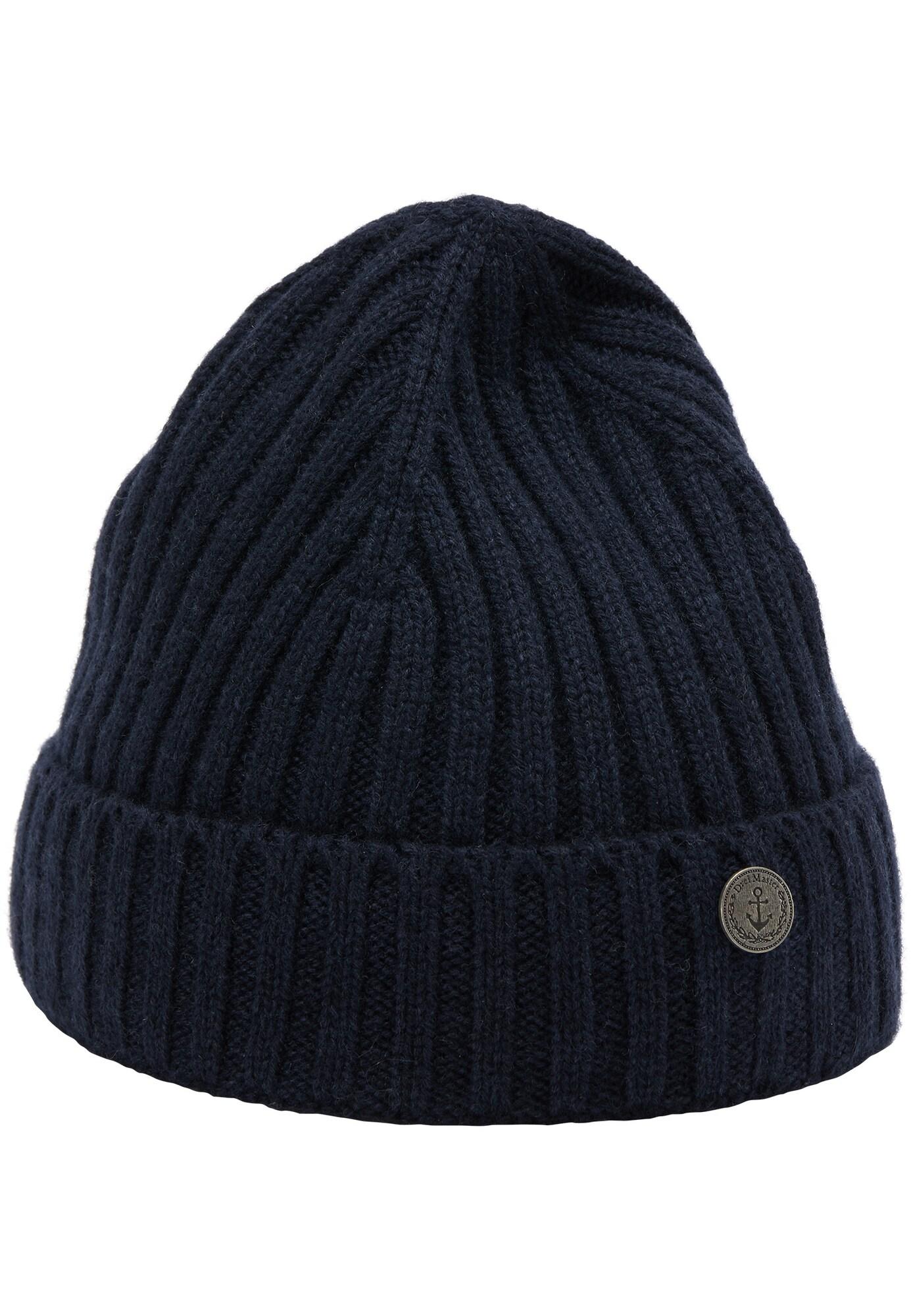 DreiMaster Vintage Megzta kepurė tamsiai mėlyna jūros spalva