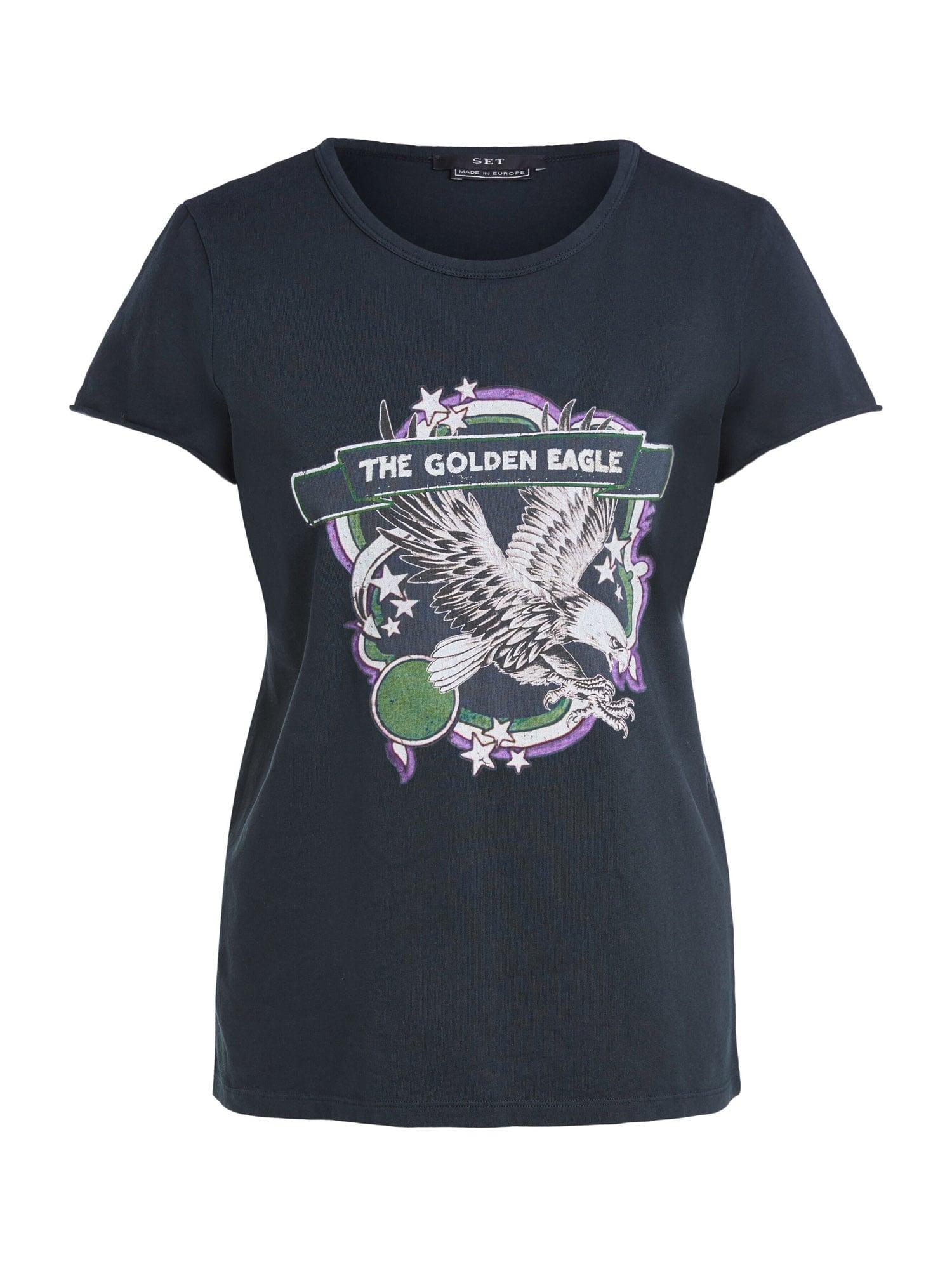 SET Marškinėliai juoda / balta / purpurinė / šviesiai žalia