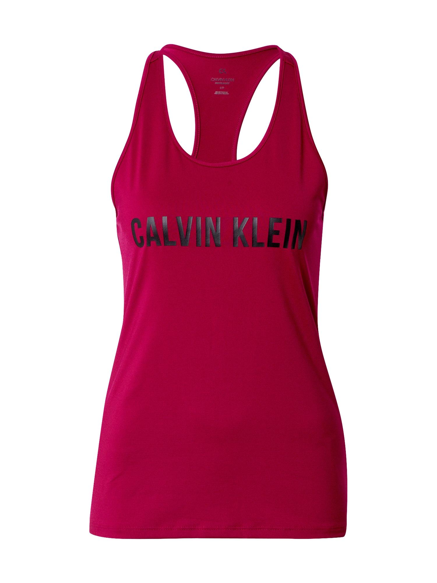 Calvin Klein Performance Sportovní top  černá / eosin
