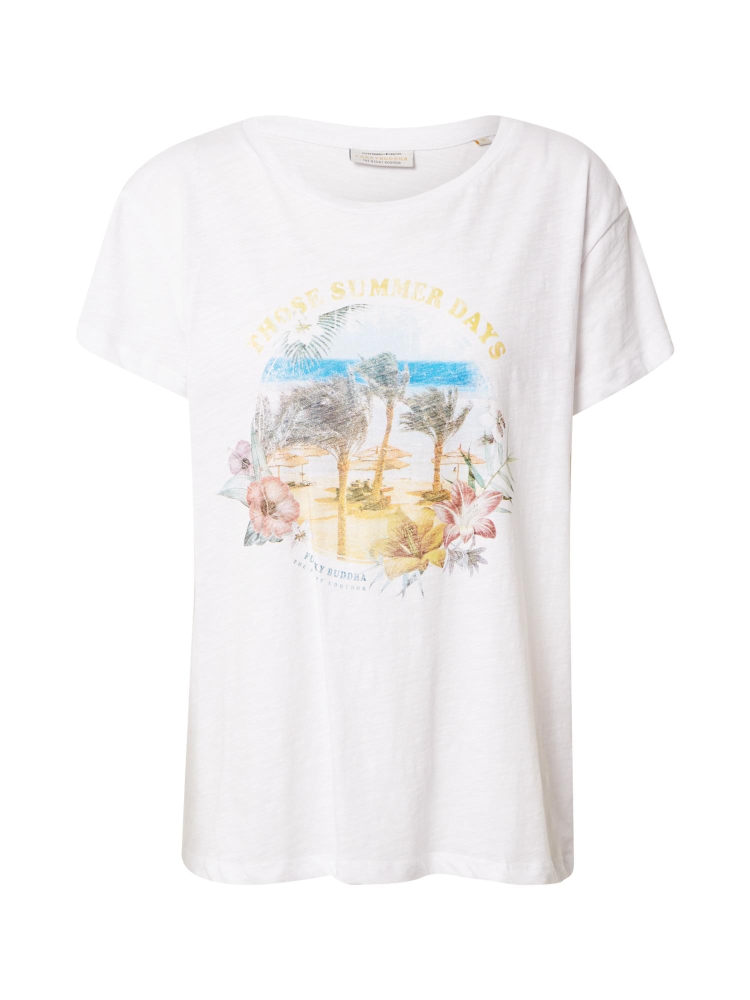 Funky Buddha Marškinėliai balta / mišrios spalvos