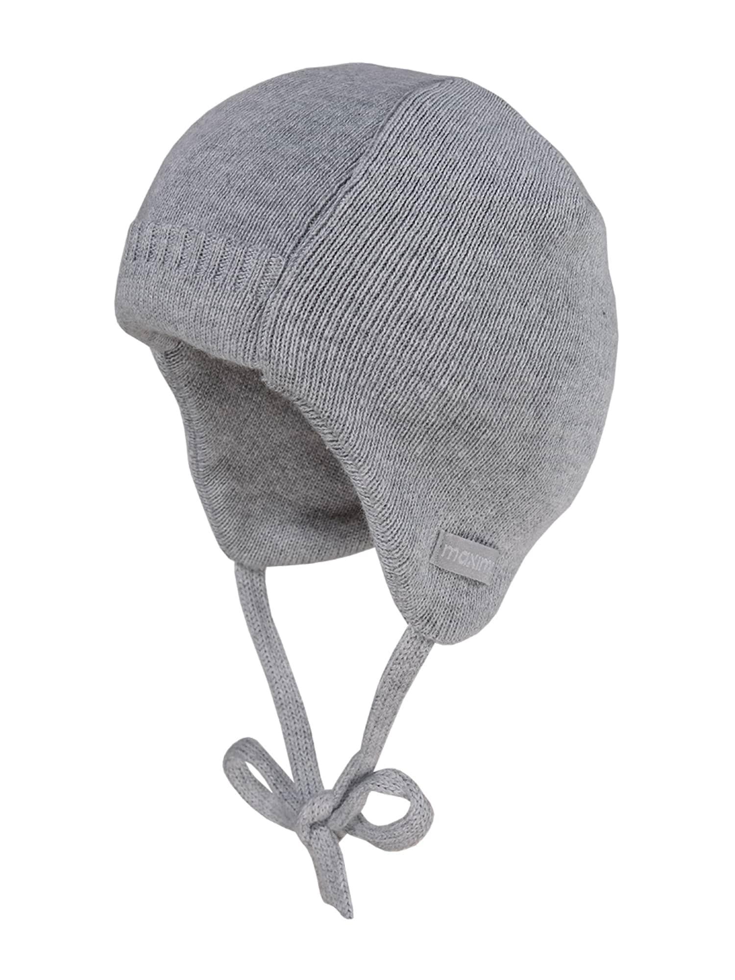 MAXIMO Megzta kepurė 'Chris' šviesiai pilka