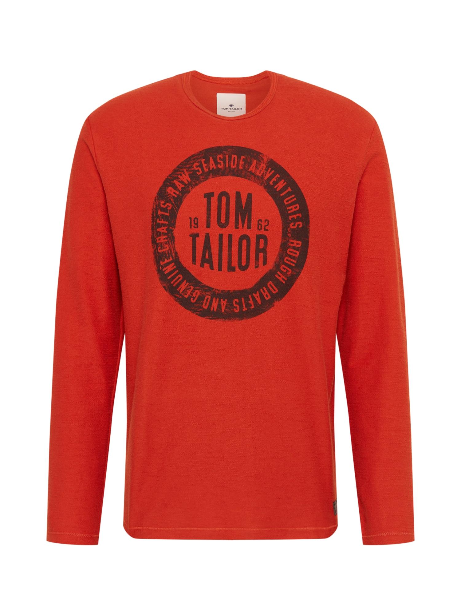 TOM TAILOR Tričko  tmavě oranžová / noční modrá