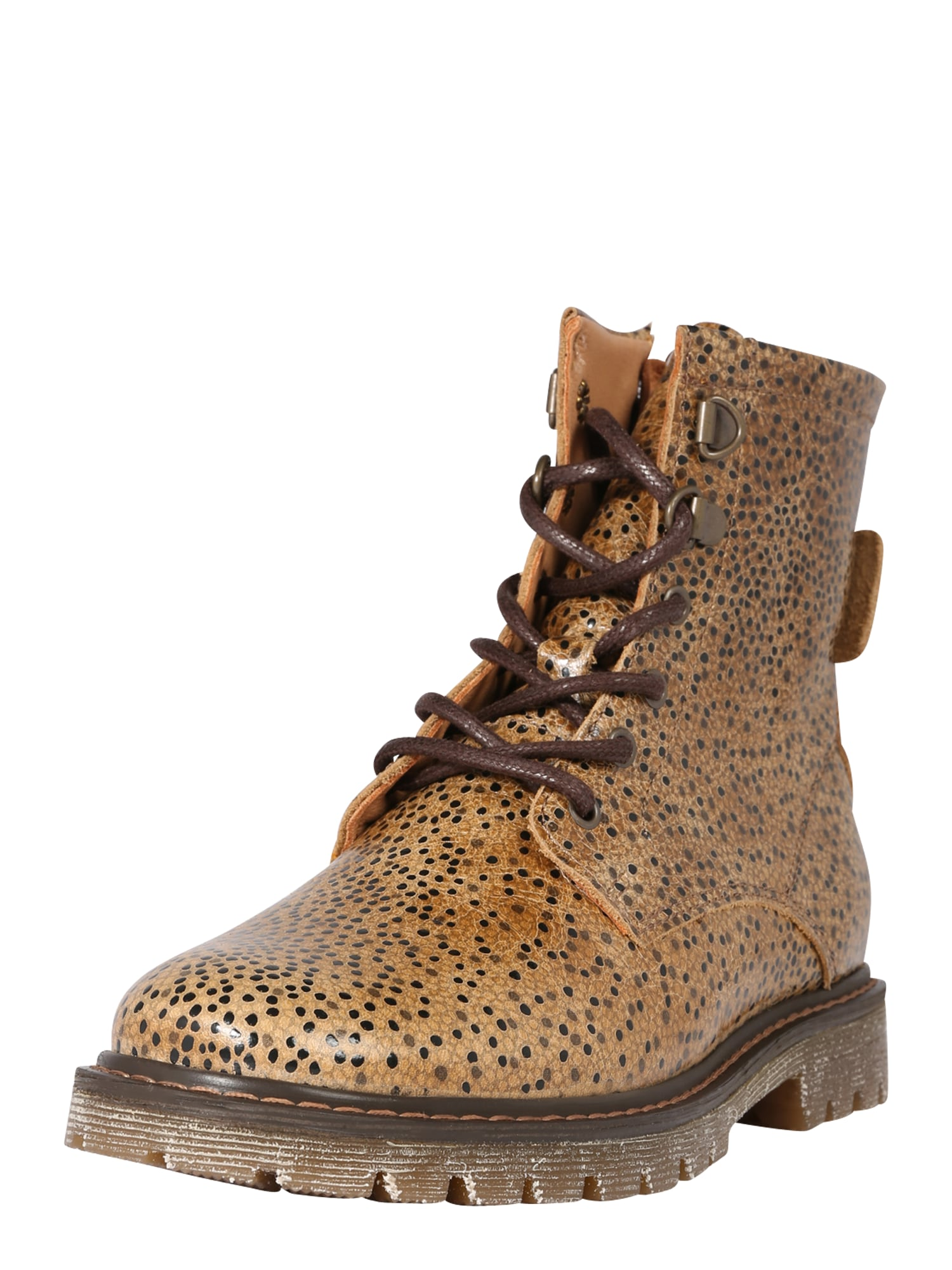 BISGAARD Auliniai batai su kulniuku tamsiai ruda / šviesiai ruda