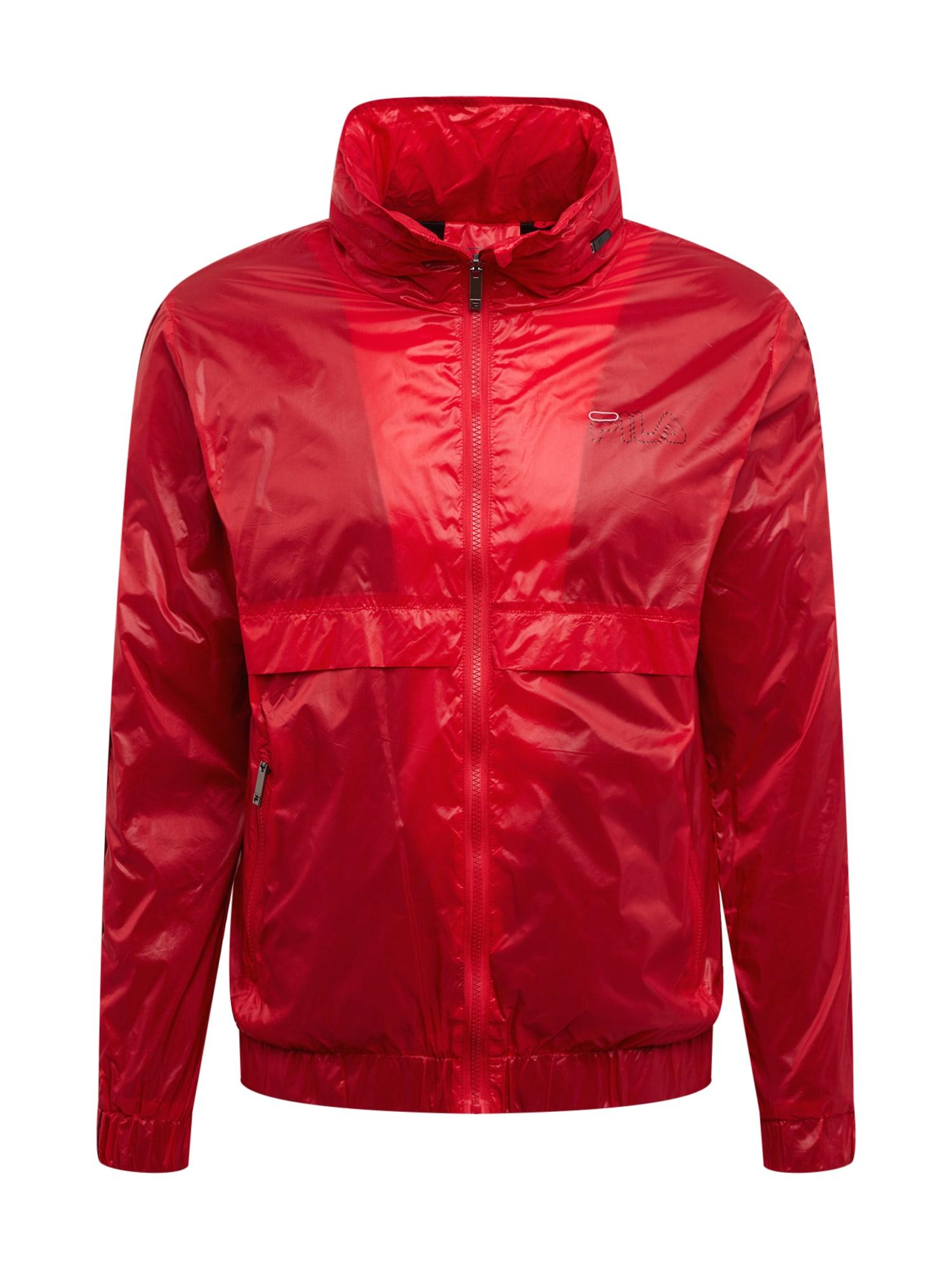 FILA Sportovní bunda 'AUGUST wind jacket'  bílá / červená