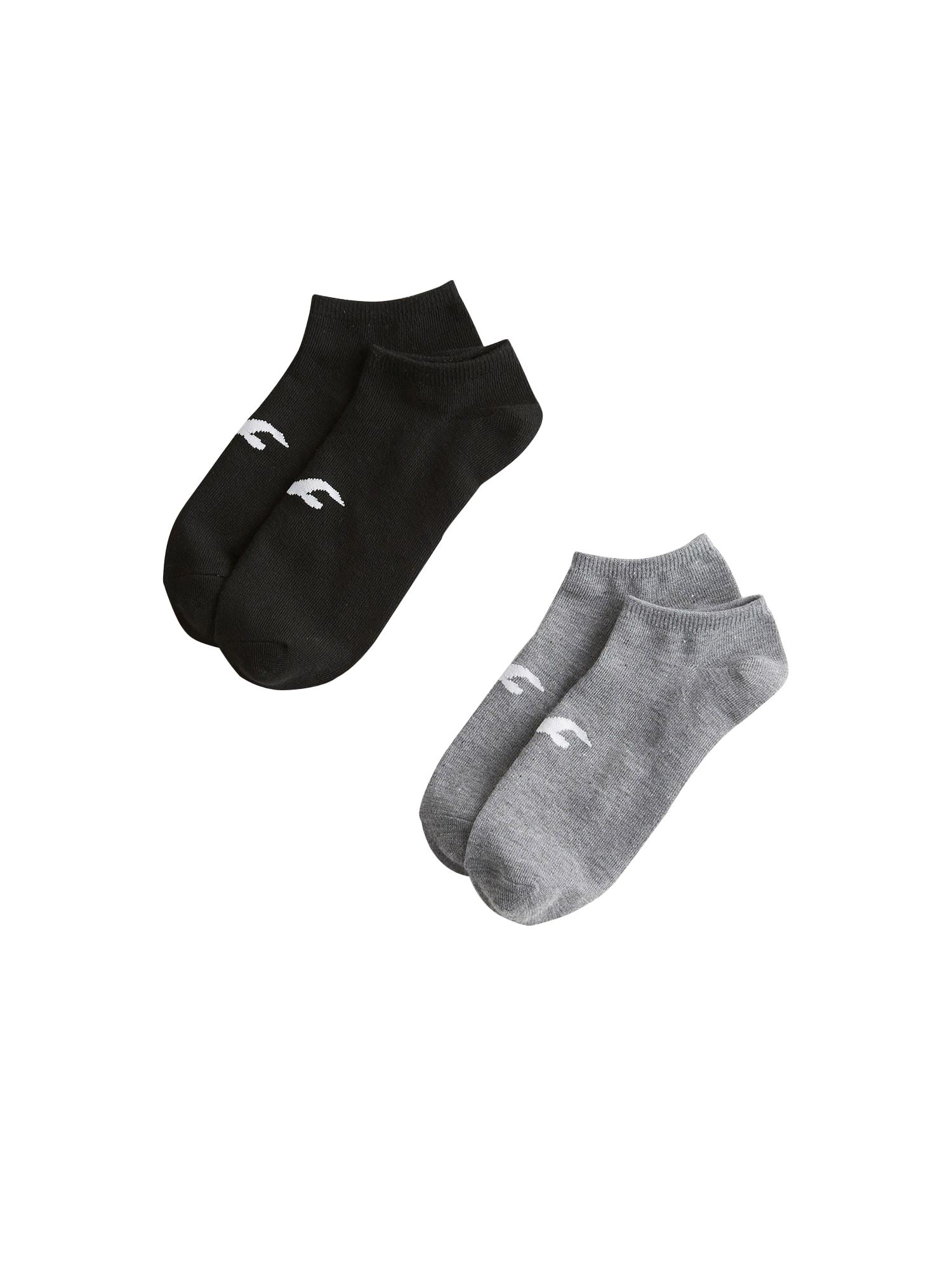 HOLLISTER Ťapky  černá / šedá