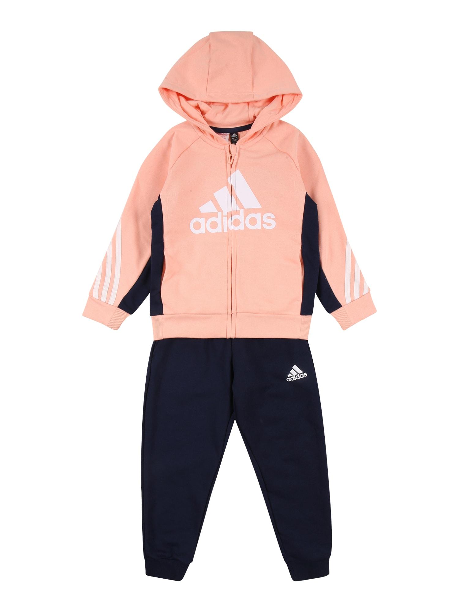 ADIDAS PERFORMANCE Sportinis kostiumas rožinė / mėlyna