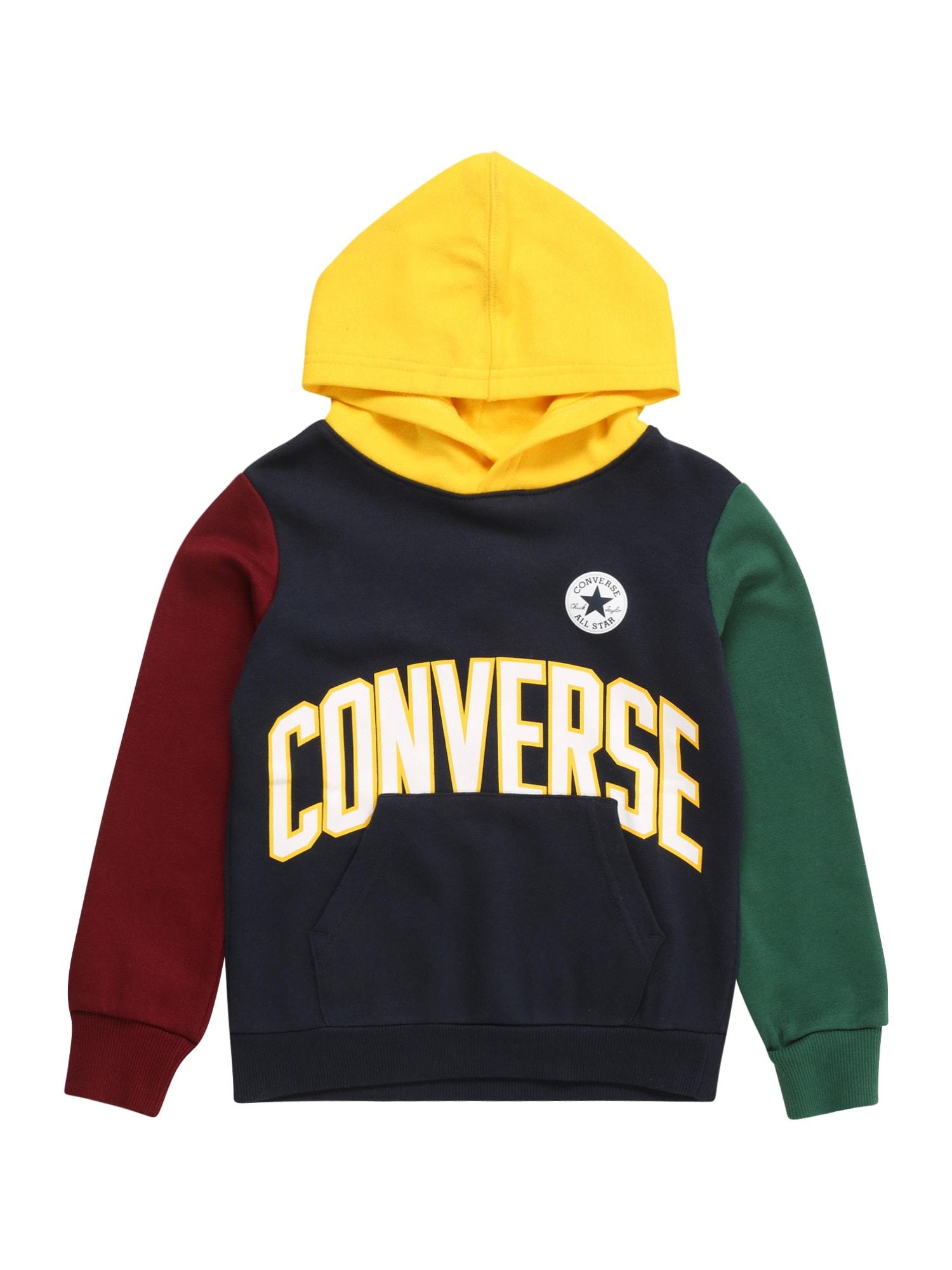 CONVERSE Megztinis be užsegimo tamsiai mėlyna / raudona / žalia / geltona