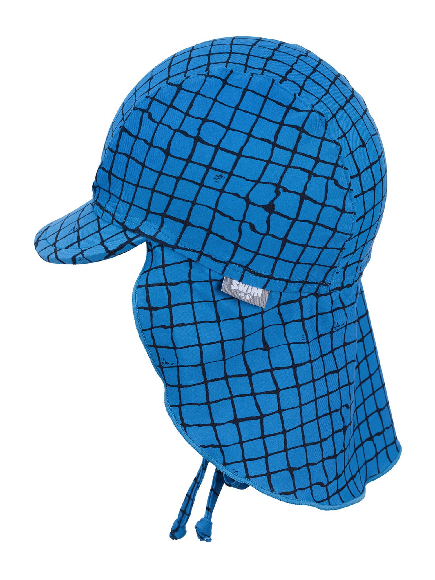 STERNTALER Megzta kepurė mėlyna / juoda / žalia / geltona