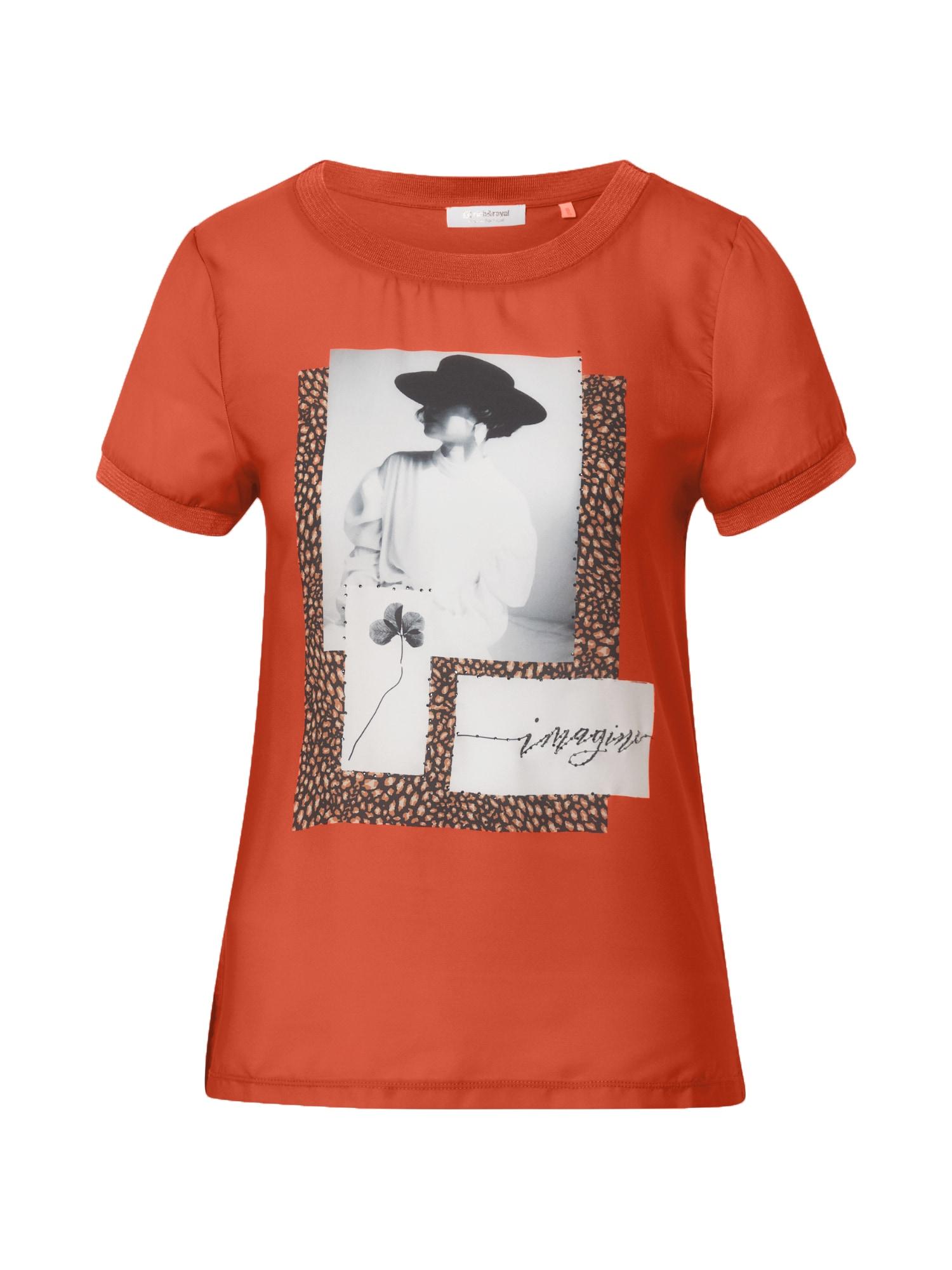 Rich & Royal Marškinėliai tamsiai oranžinė / mišrios spalvos