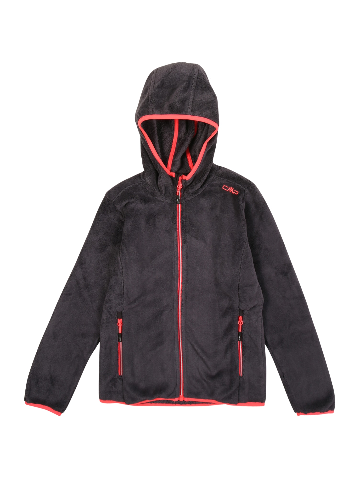 CMP Funkcinis flisinis džemperis juoda / raudona