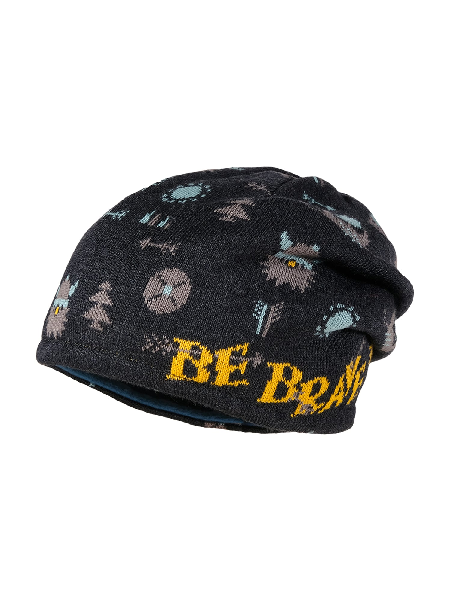 MAXIMO Megzta kepurė tamsiai pilka / geltona / mėtų spalva / pilka