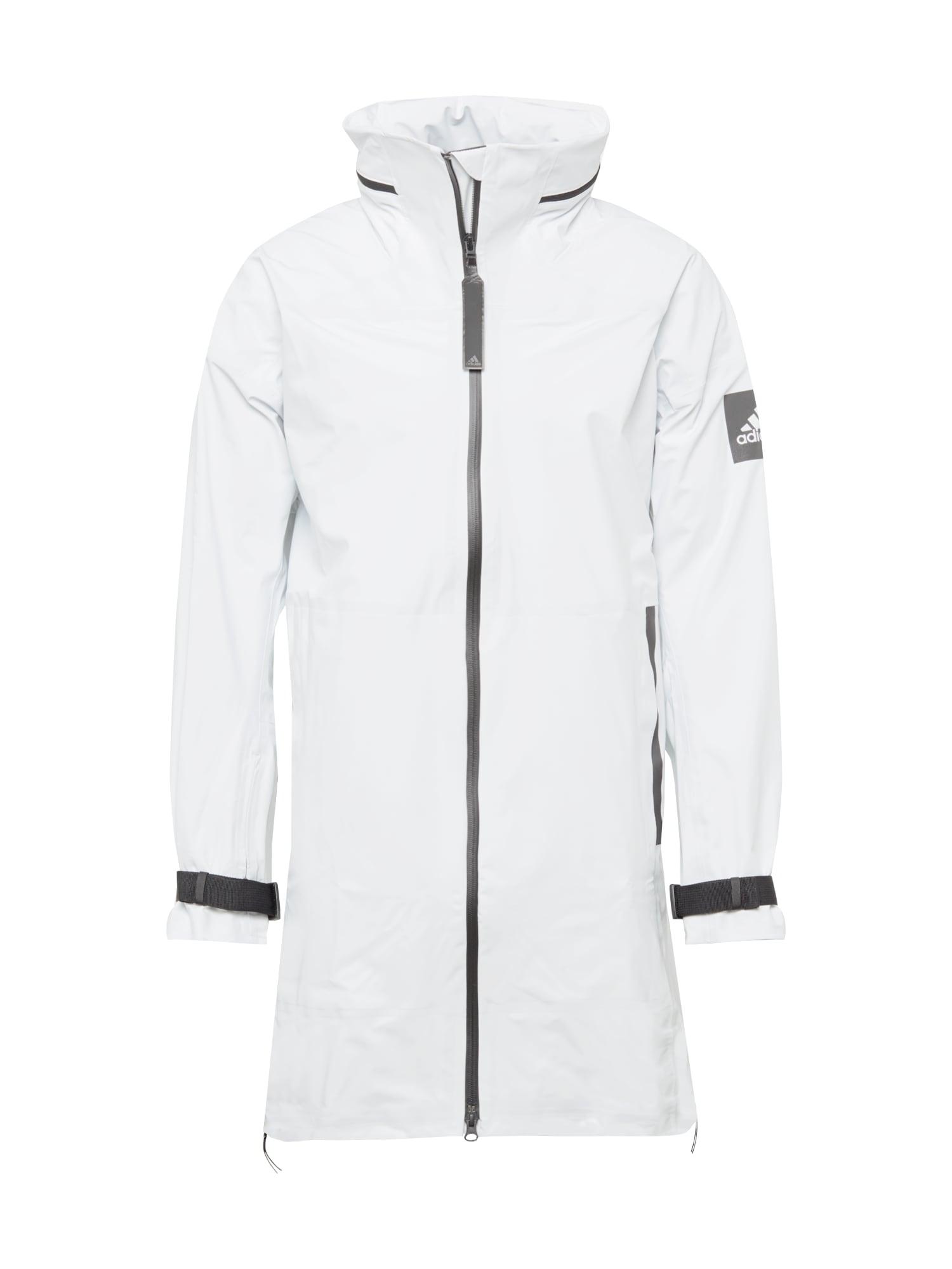 ADIDAS PERFORMANCE Outdoorová bunda 'MYSHELTER'  bílá / tmavě šedá