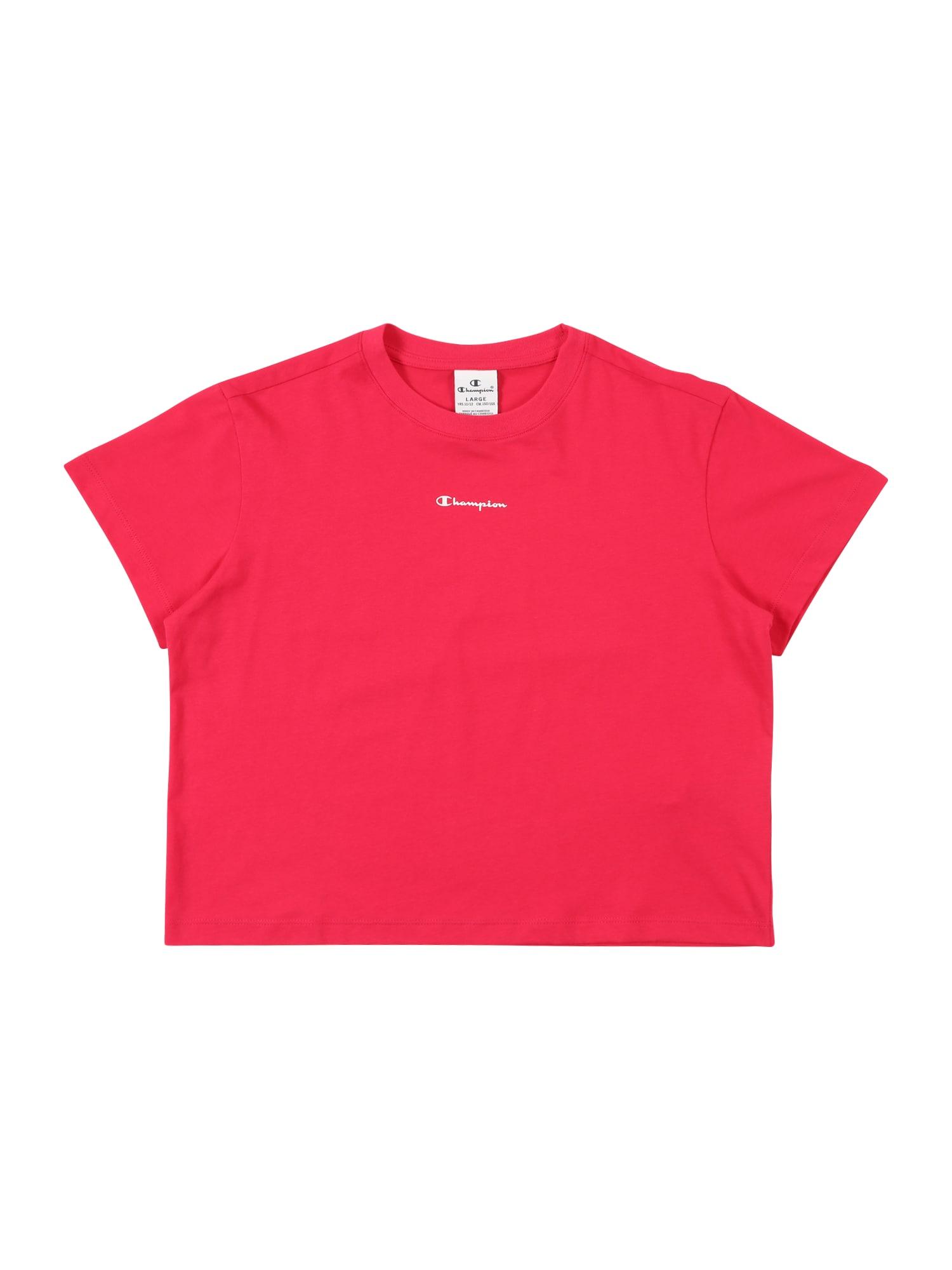 Champion Authentic Athletic Apparel Marškinėliai tamsiai rožinė