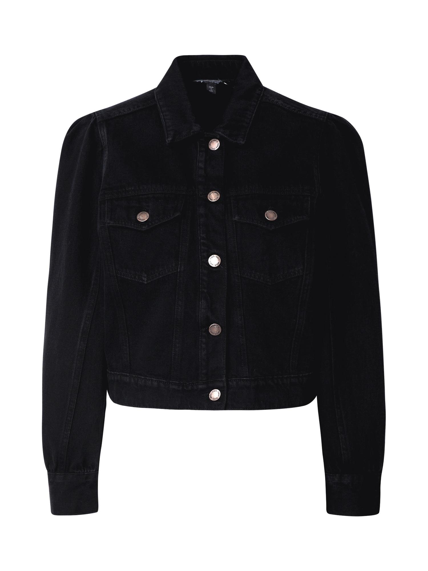 Miss Selfridge Demisezoninė striukė juodo džinso spalva