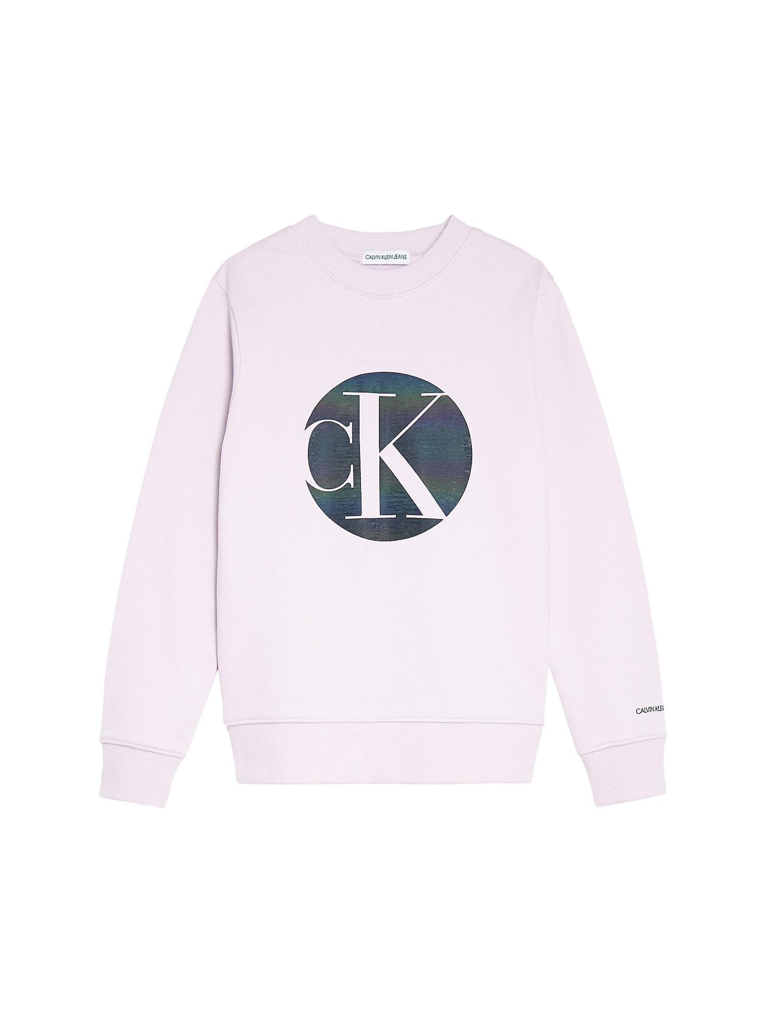 Calvin Klein Jeans Megztinis be užsegimo rožių spalva / tamsiai mėlyna