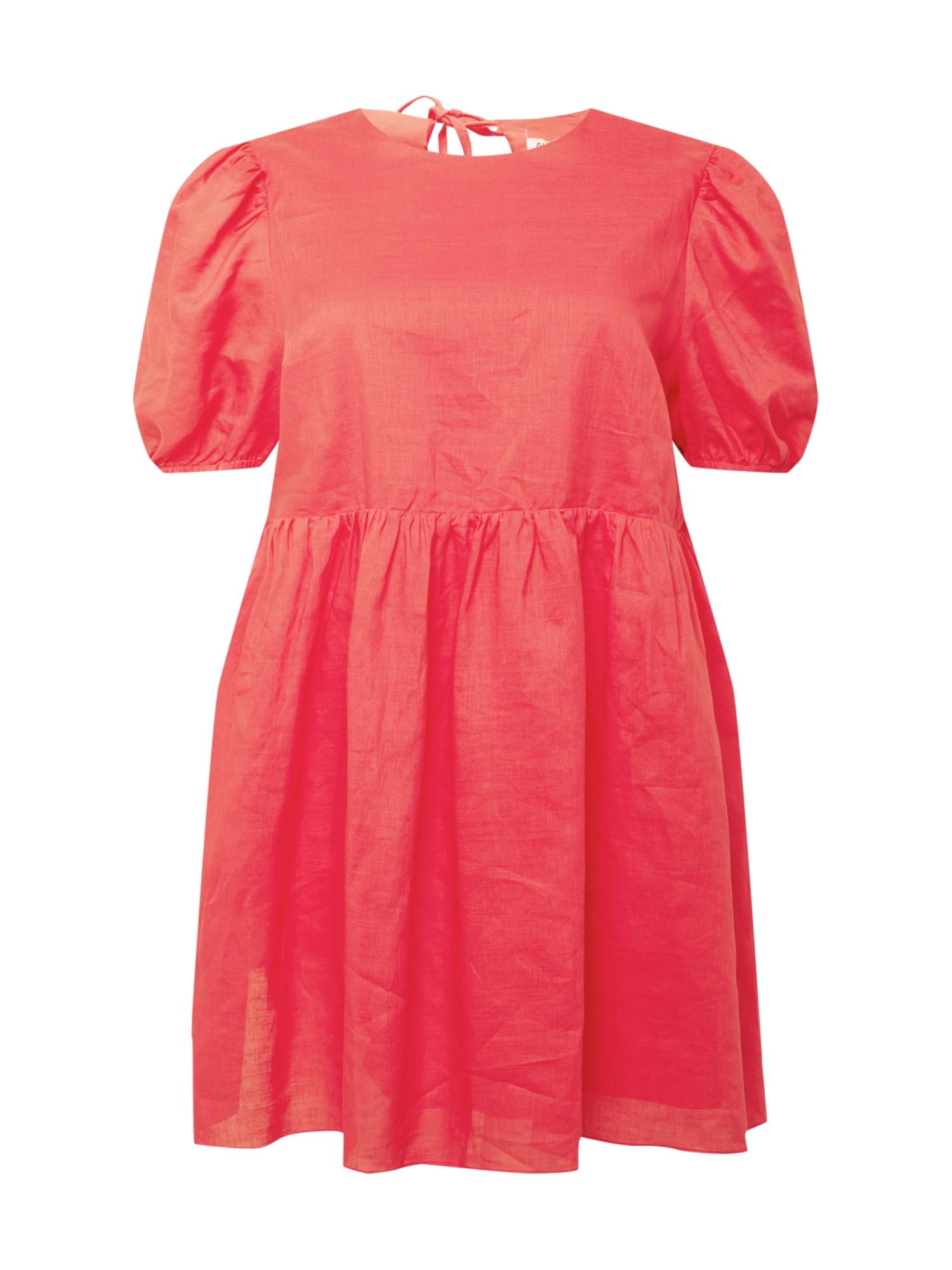 GLAMOROUS CURVE Suknelė melionų spalva