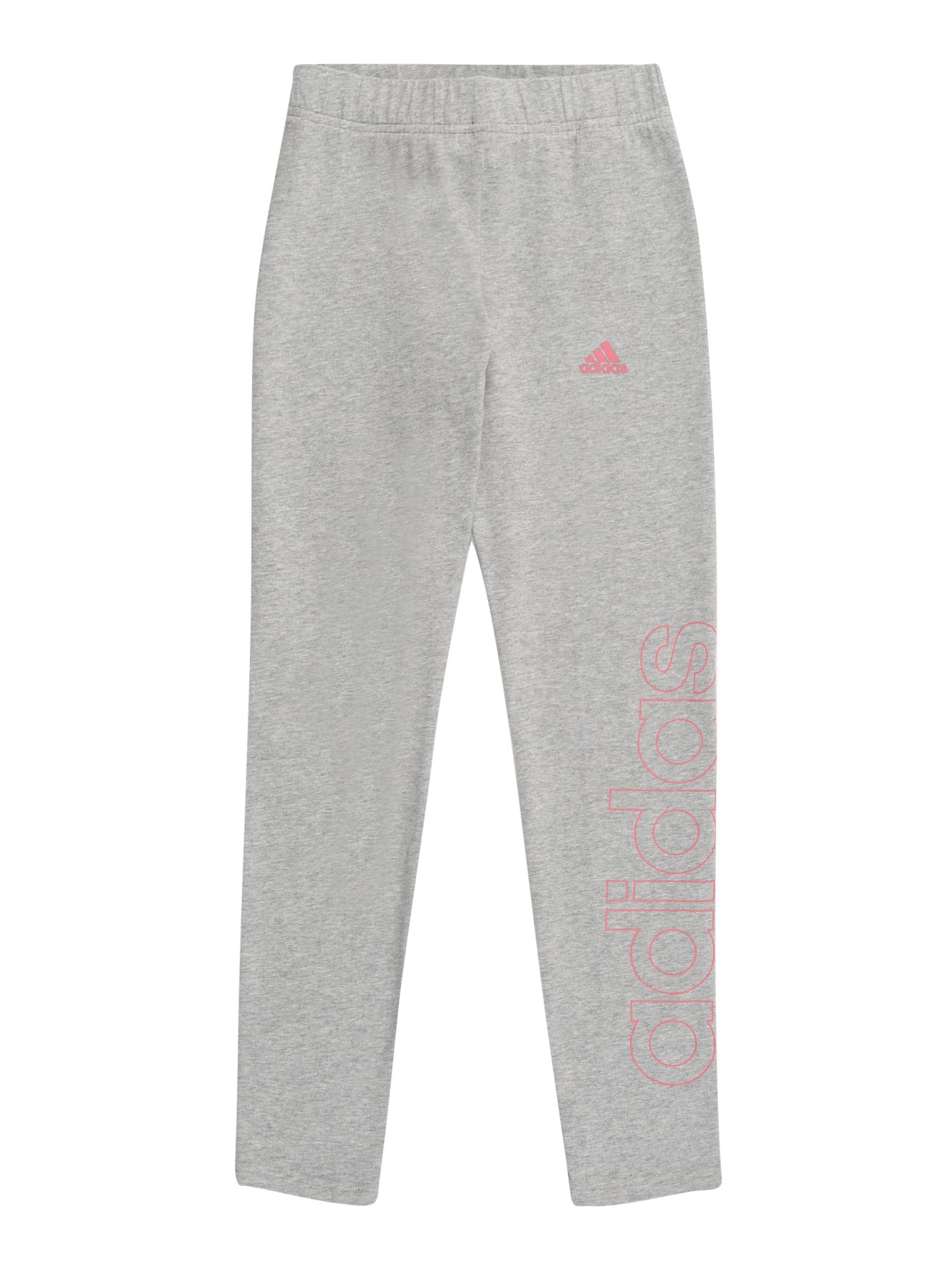 ADIDAS PERFORMANCE Sportinės kelnės pilka / rožinė