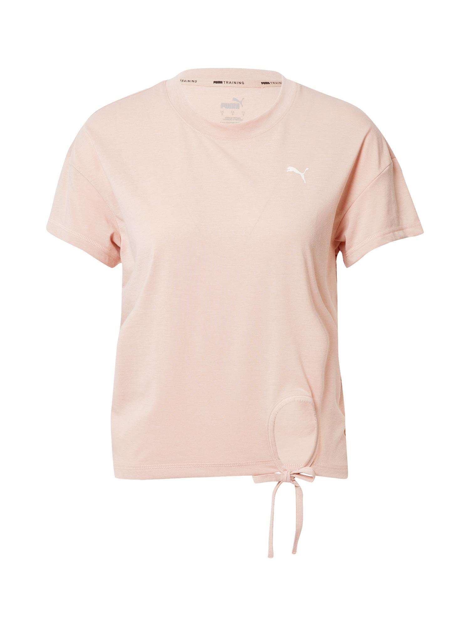 PUMA Funkční tričko 'Winter Pearl Tie Tee'  růžová