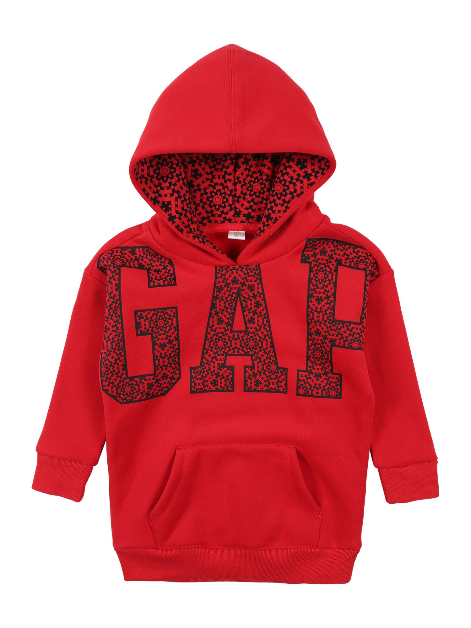 GAP Megztinis be užsegimo raudona / juoda