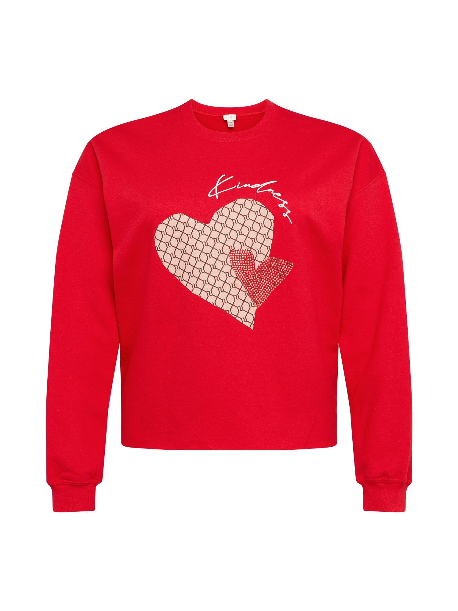 River Island Plus Megztinis be užsegimo raudona / pudros spalva / smėlio