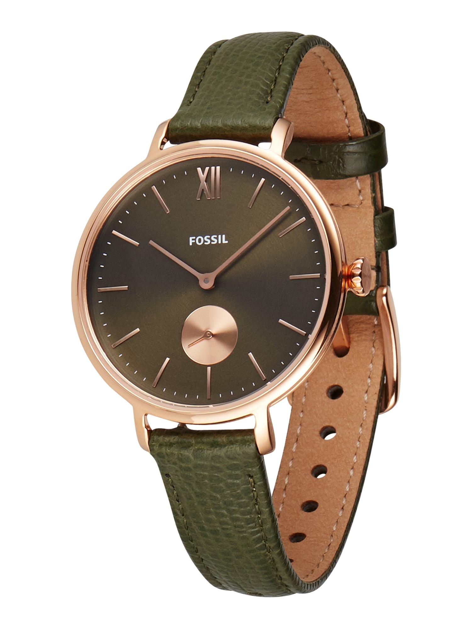 FOSSIL Analoginis (įprasto dizaino) laikrodis 'Kalya' rožinio aukso spalva / žalia