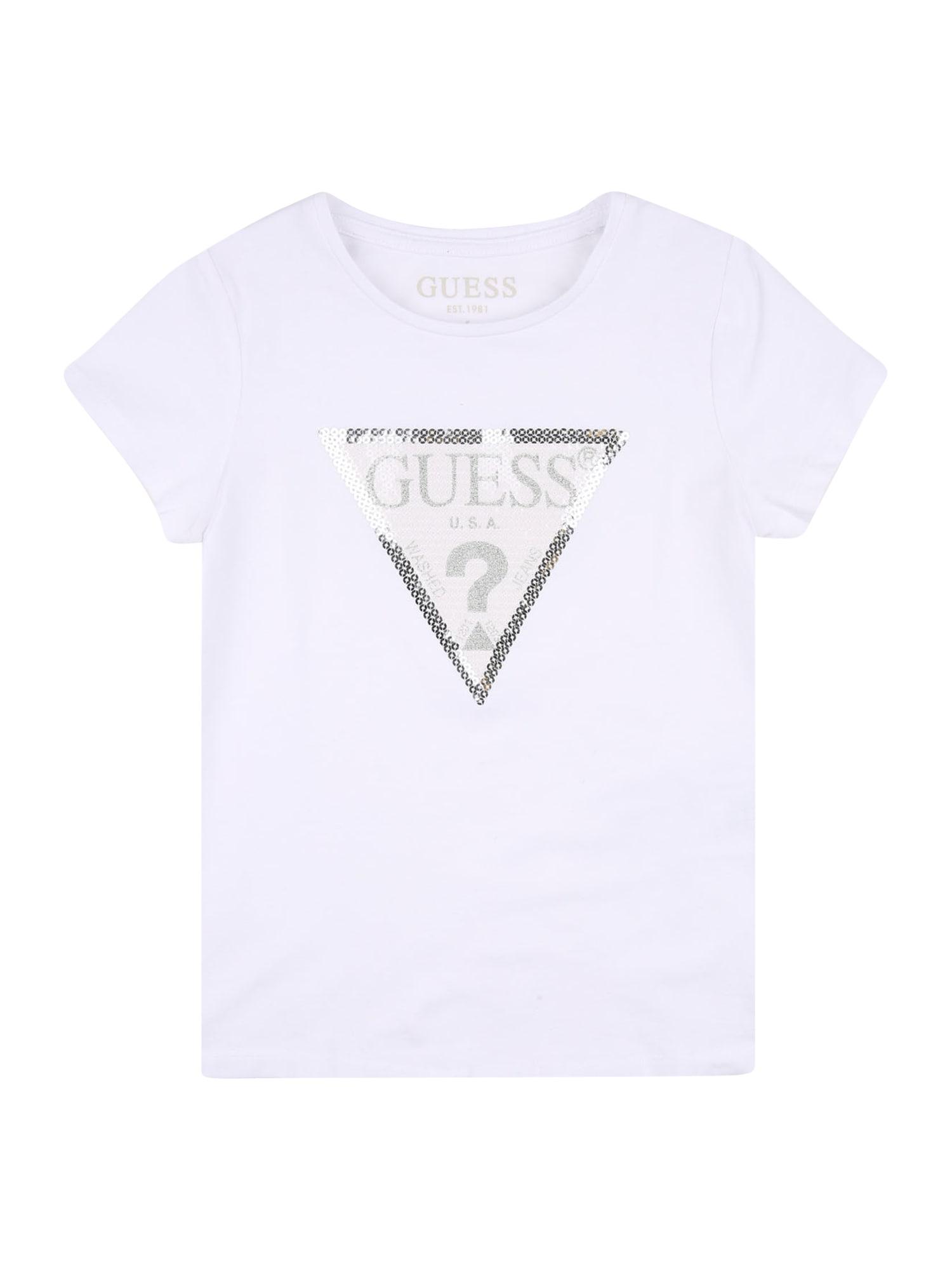 GUESS KIDS Marškinėliai balta / auksas