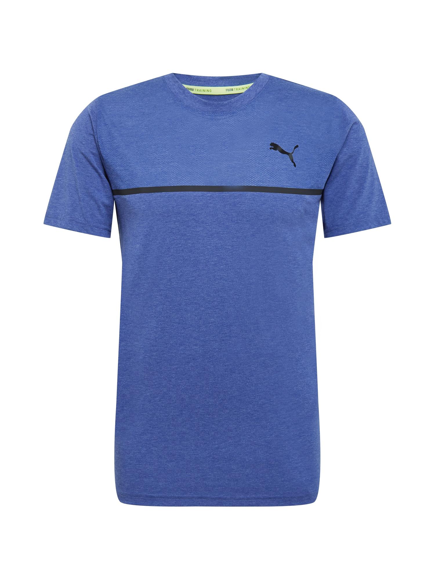 PUMA Sportiniai marškinėliai mėlyna / juoda